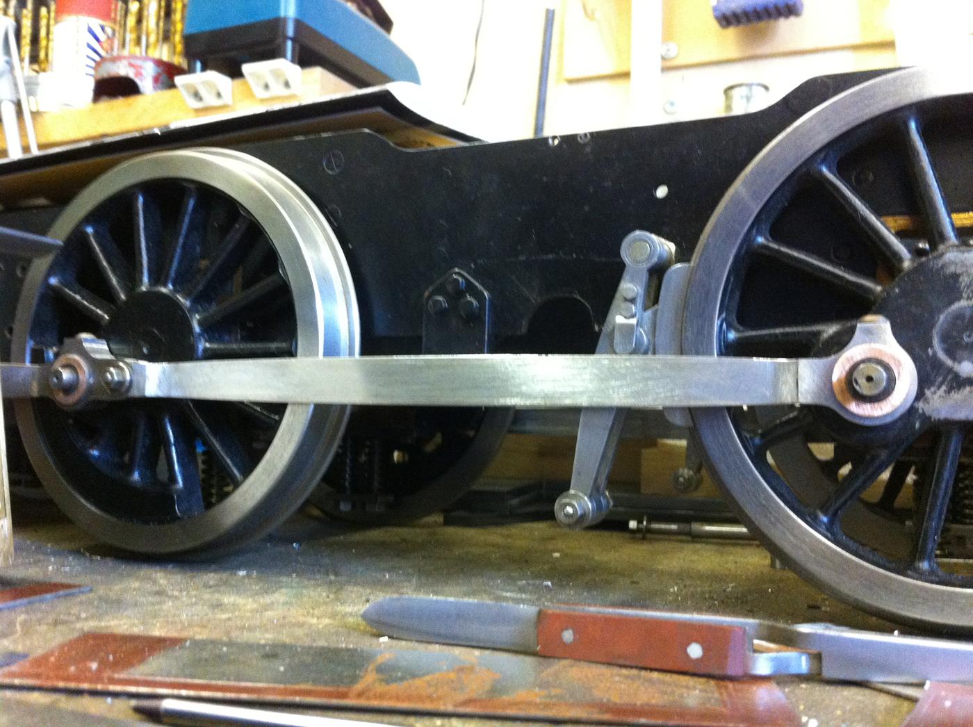test 5 inch gauge pannier tank coupling rods