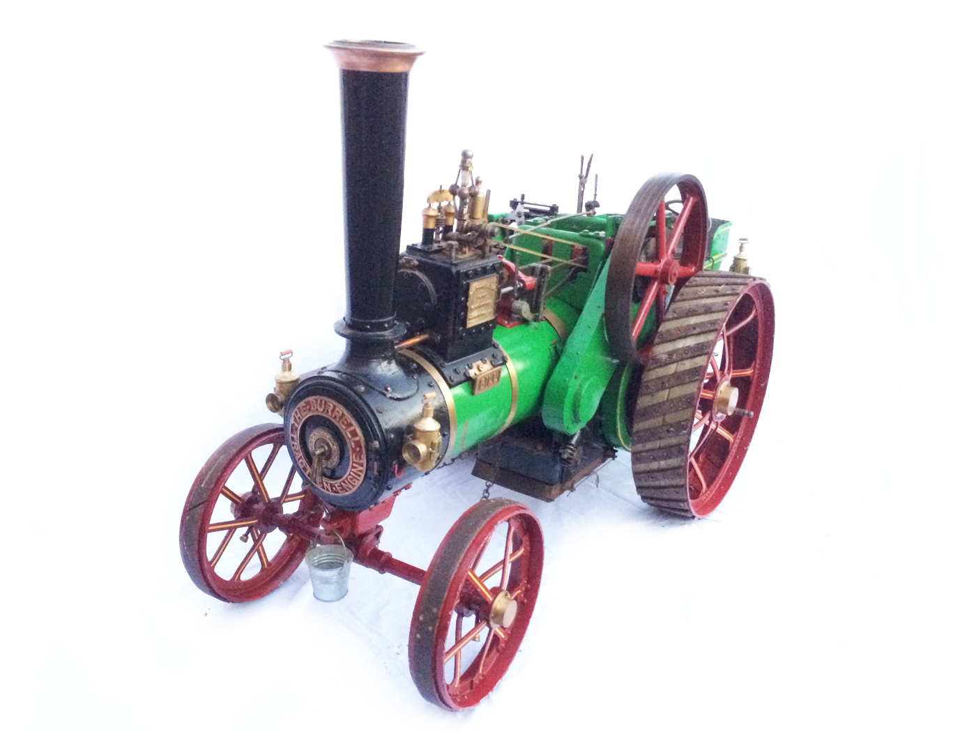 test 3 inch Scale plastow Burrell Traction engine live steam for sale 02