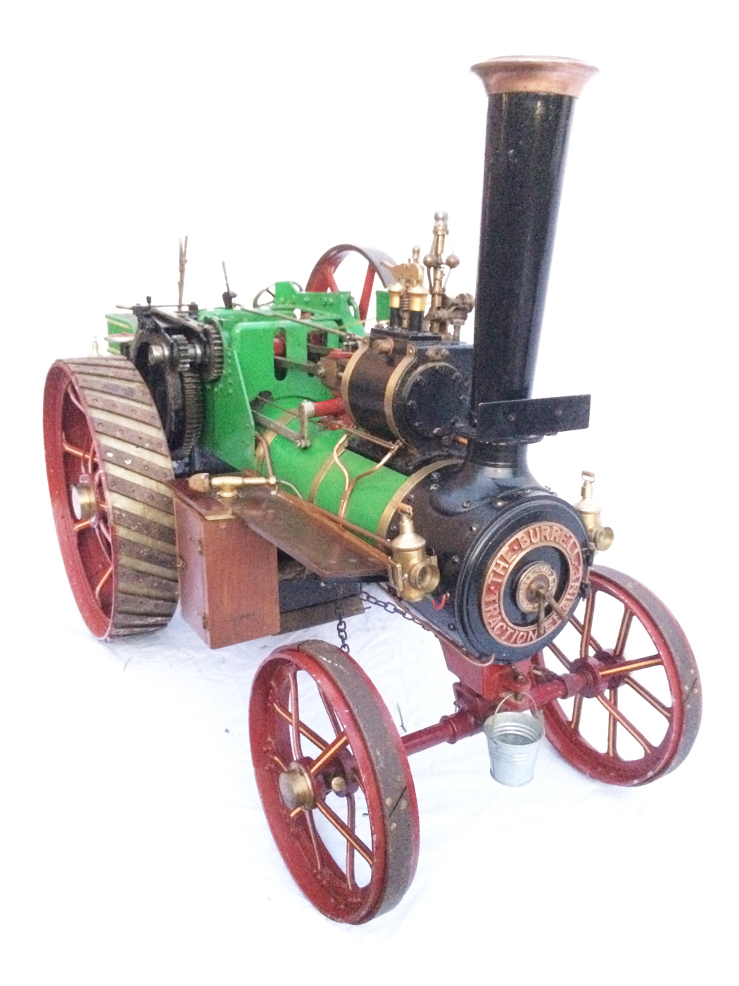 test 3 inch Scale plastow Burrell Traction engine live steam for sale 09