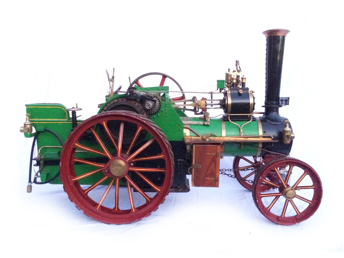 test 3 inch Scale plastow Burrell Traction engine live steam for sale 11