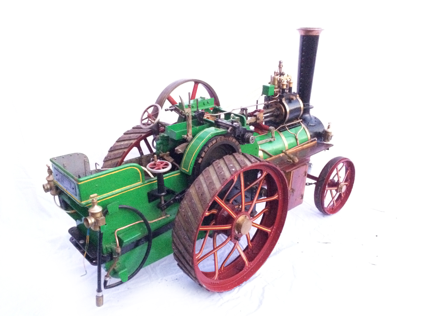 test 3 inch Scale plastow Burrell Traction engine live steam for sale 20