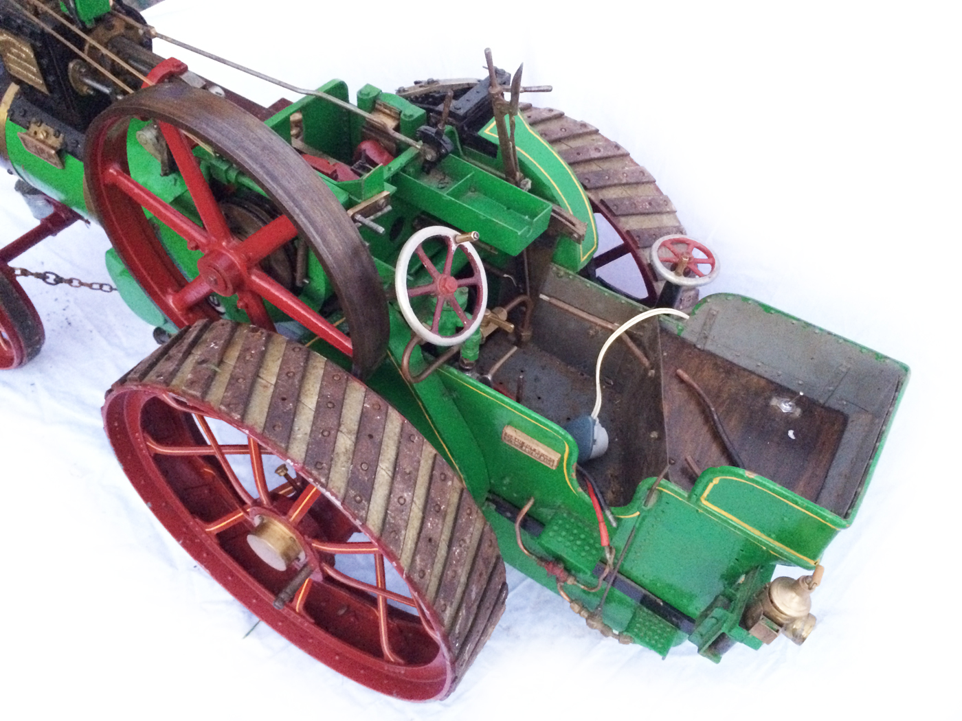 test 3 inch Scale plastow Burrell Traction engine live steam for sale 21