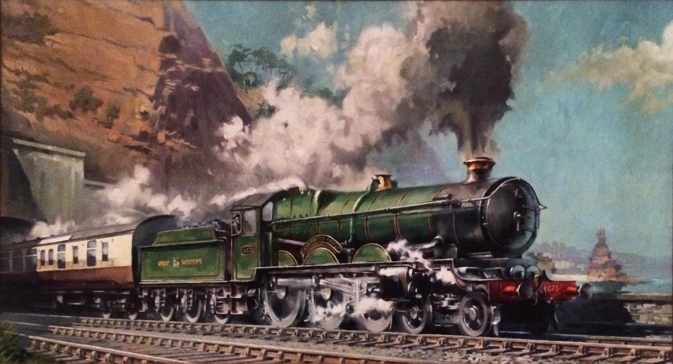 test G Palmer Castle oil painting