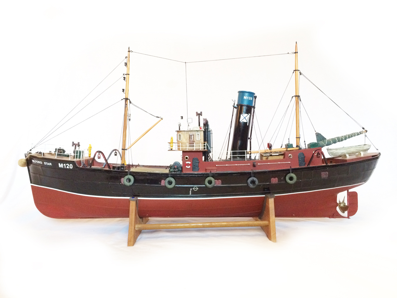 test Milford Star model Steam trawler 02