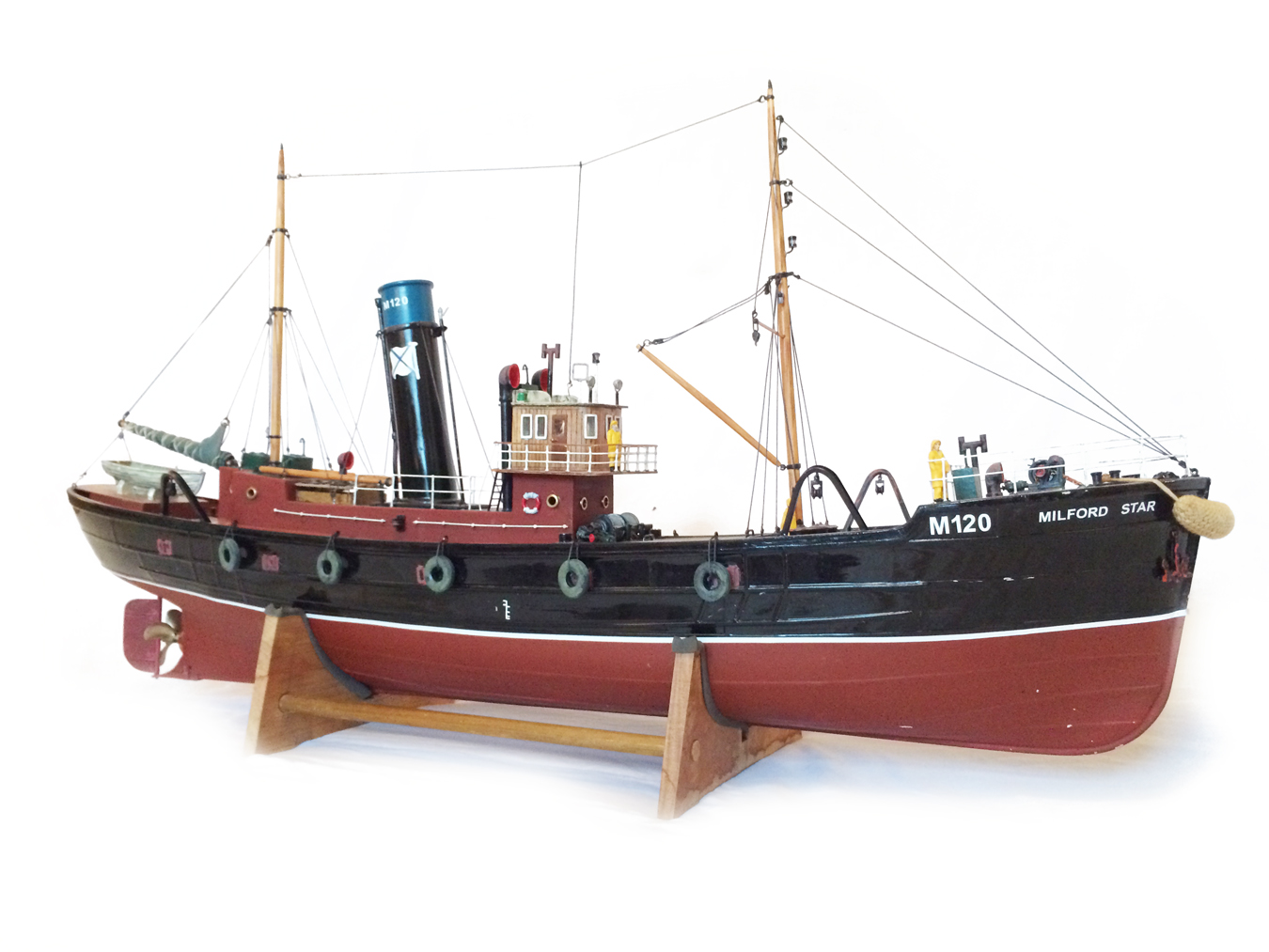 test Milford Star model Steam trawler 19