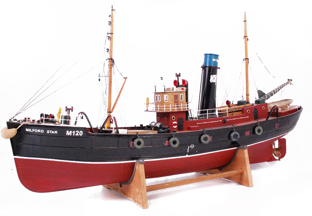 test Milford Star model Steam trawler 20
