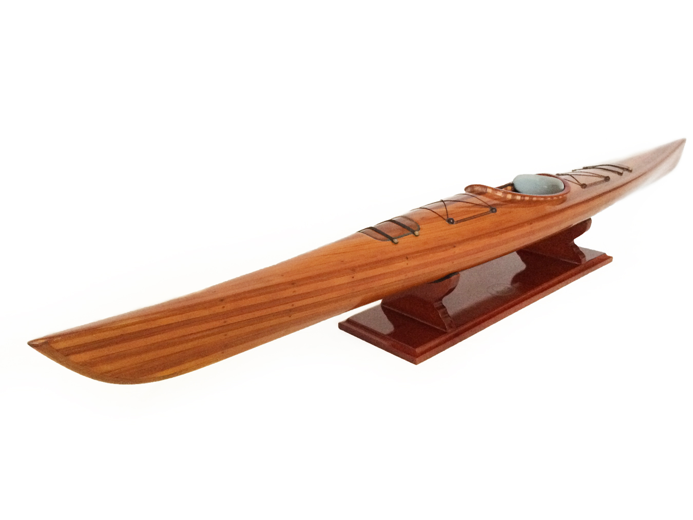 test Model Kayak Canoe boat cedar 09