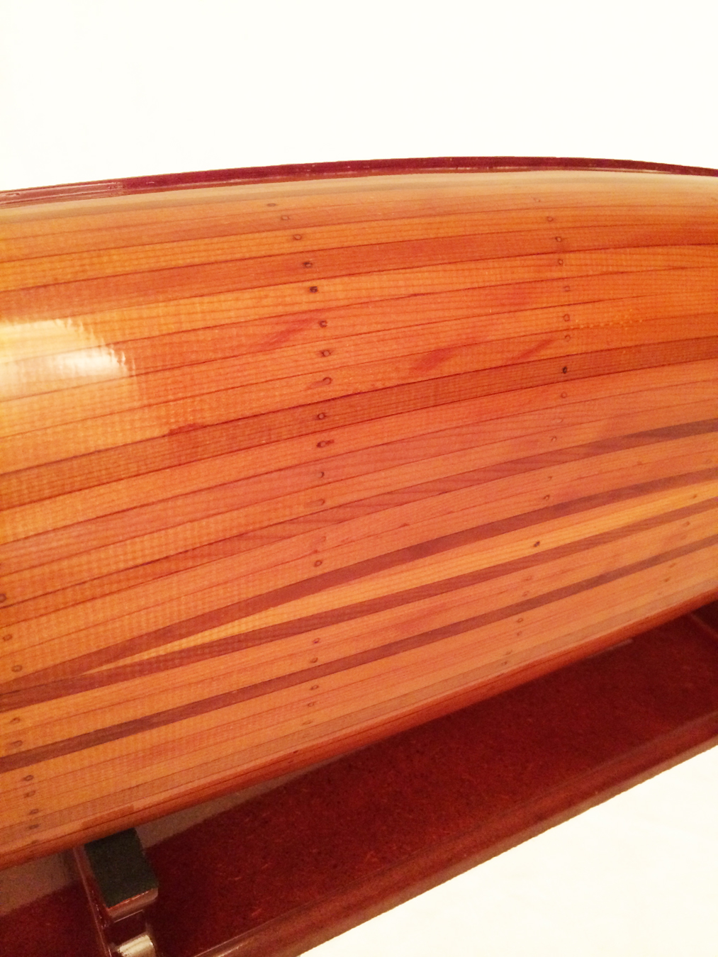 test miniature cedar wood canoe 02
