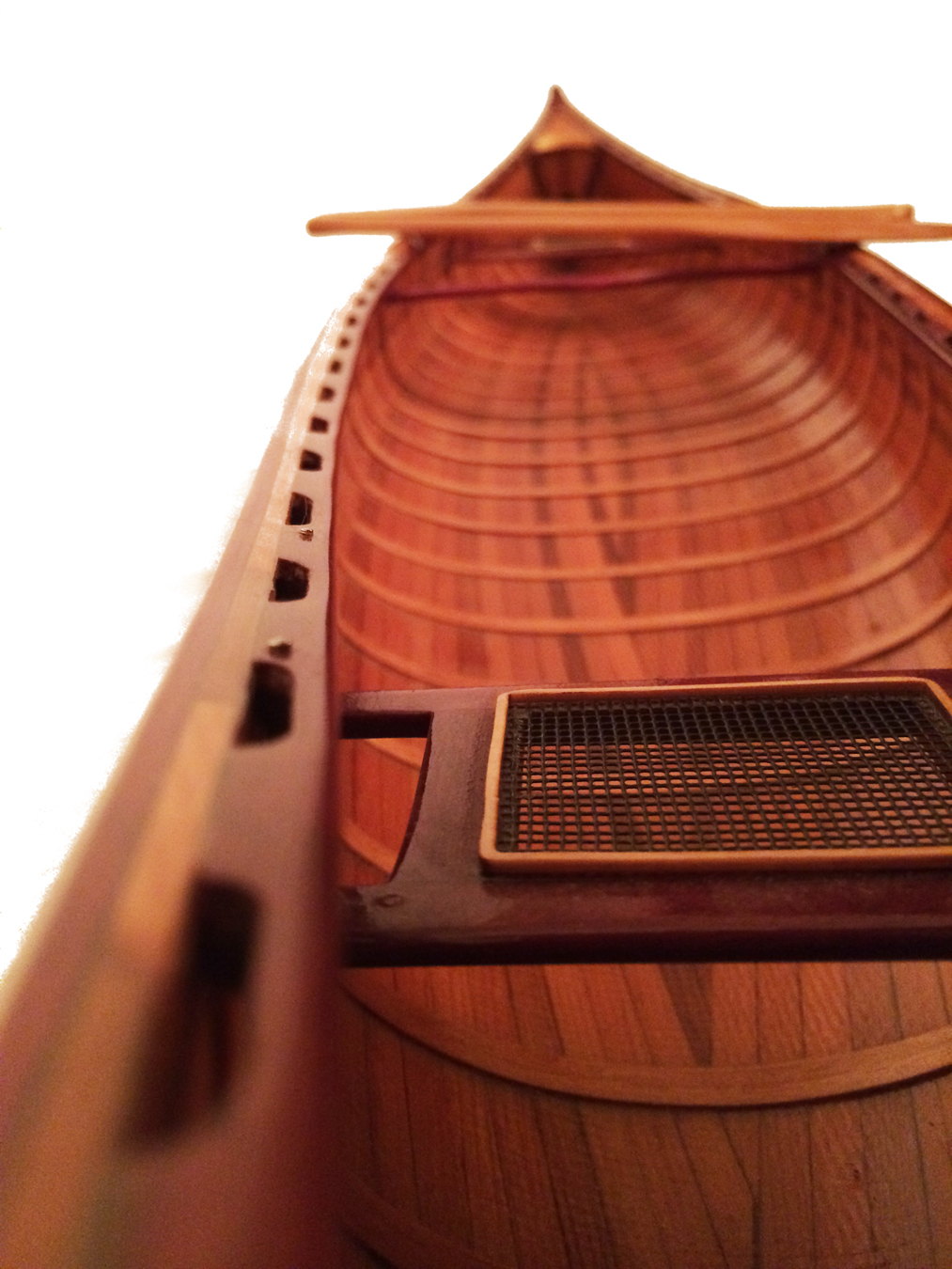 test miniature cedar wood canoe 05