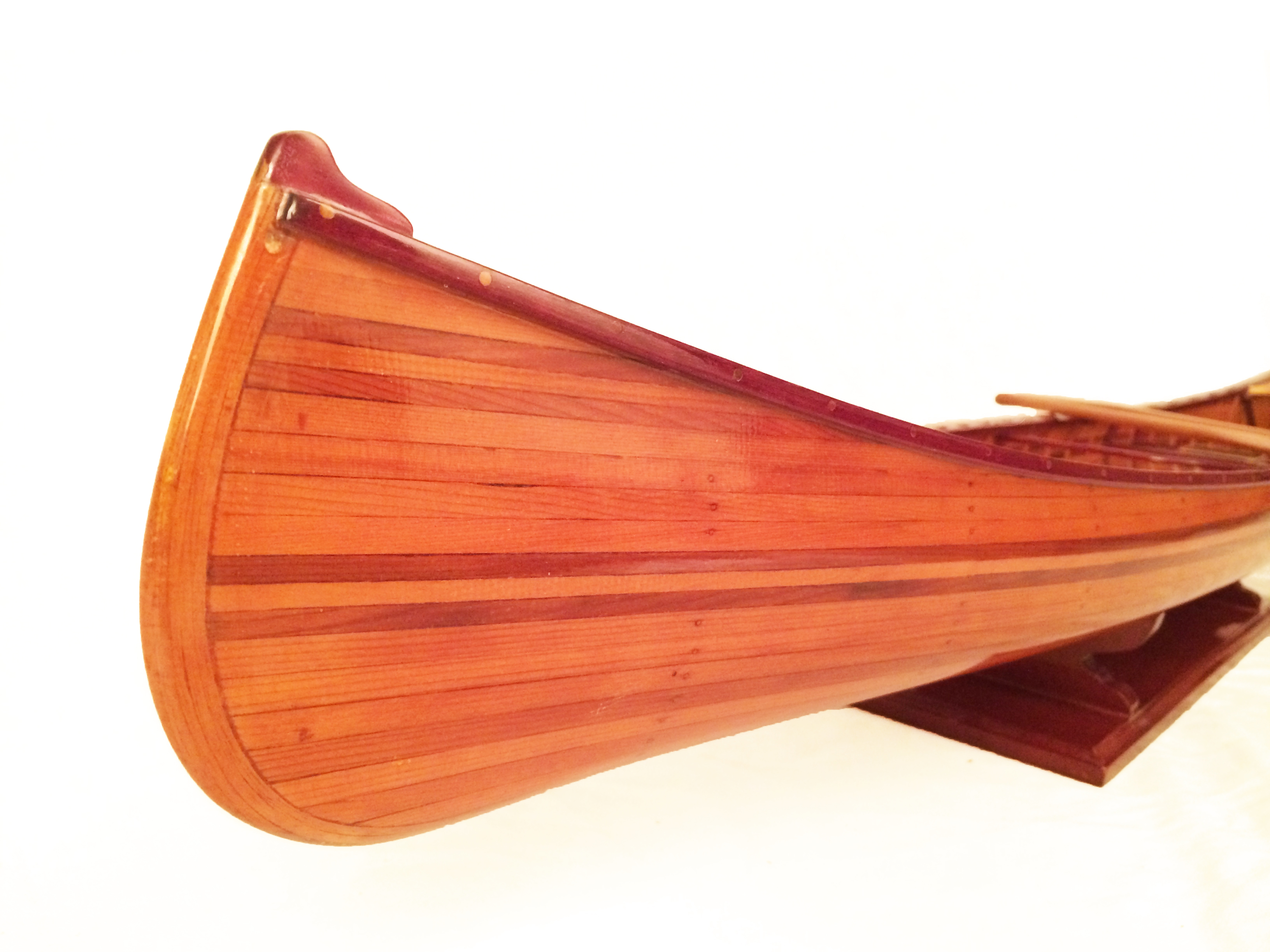 test miniature cedar wood canoe 08