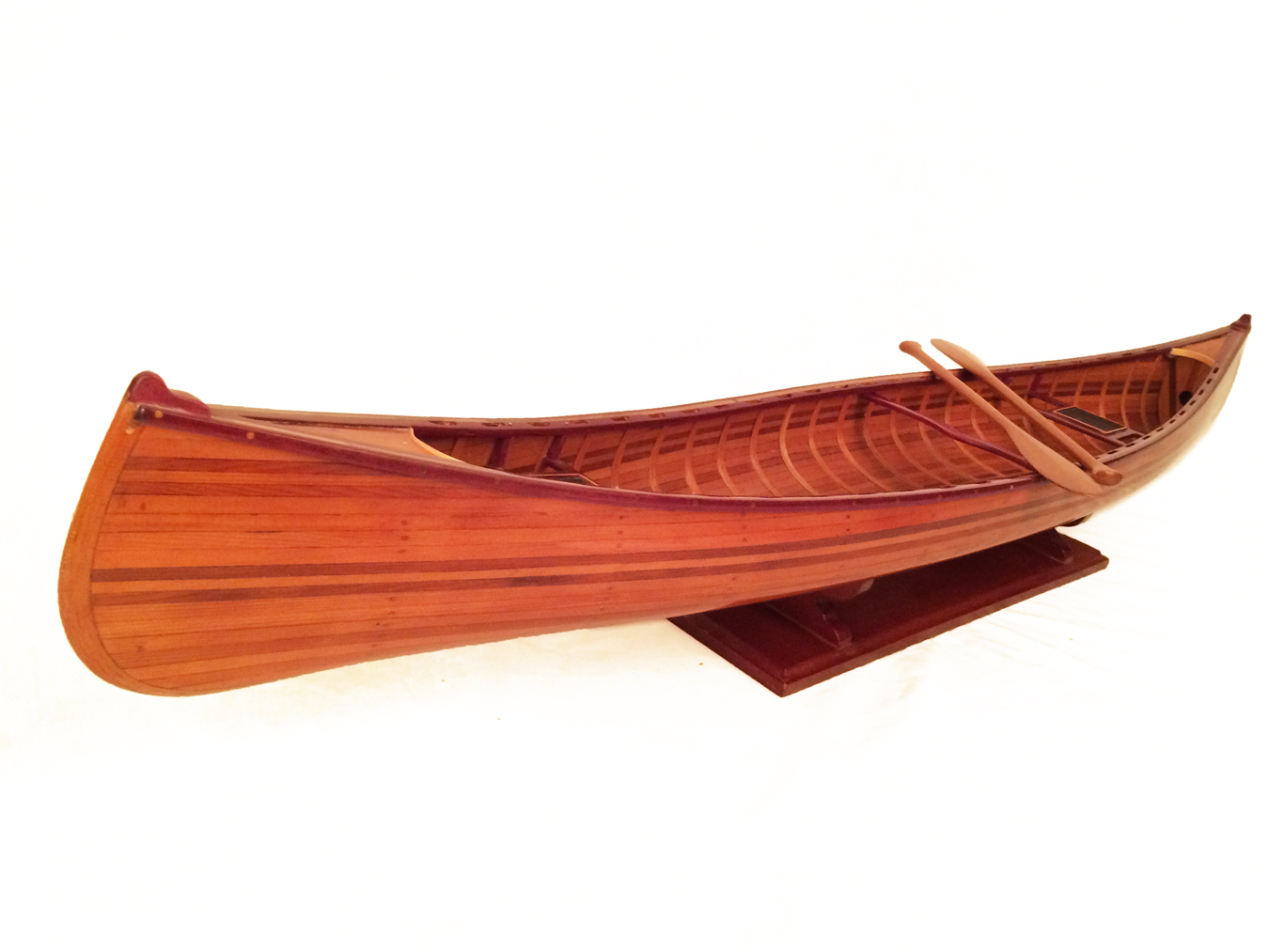 test miniature cedar wood canoe 09