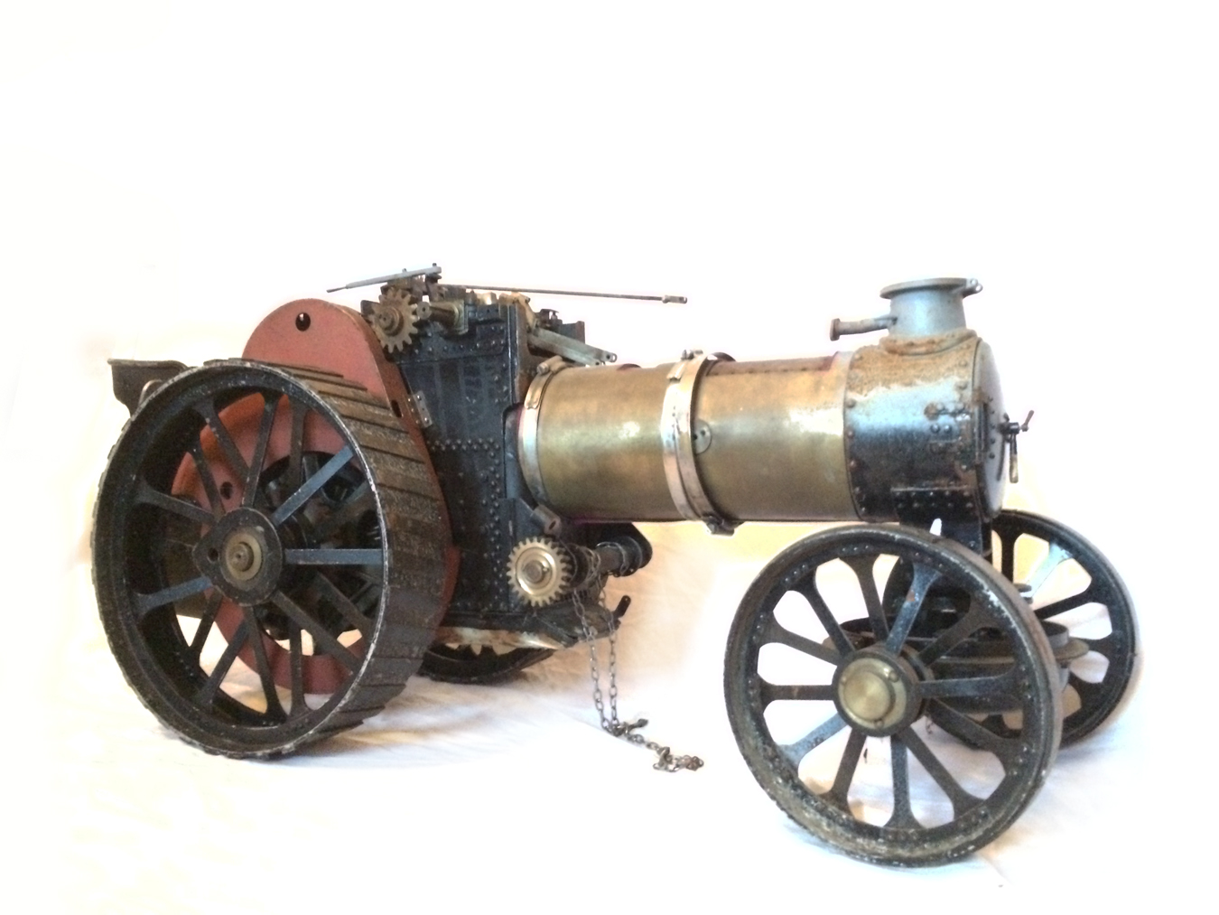 test 2 inch scale Fowler A7 Live Steam Traction Engine for sale 06