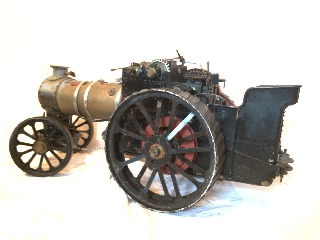 test 2 inch scale Fowler A7 Live Steam Traction Engine for sale 08