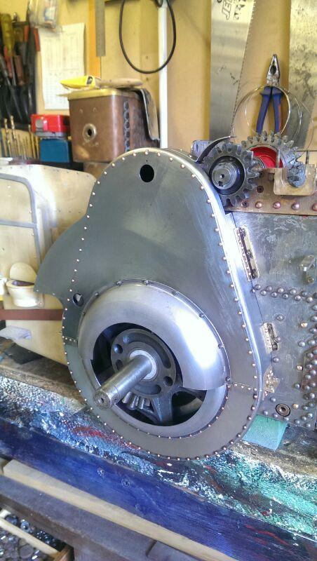 test 2 inch scale MJ Fowler A7 Gear Gaurd fitted