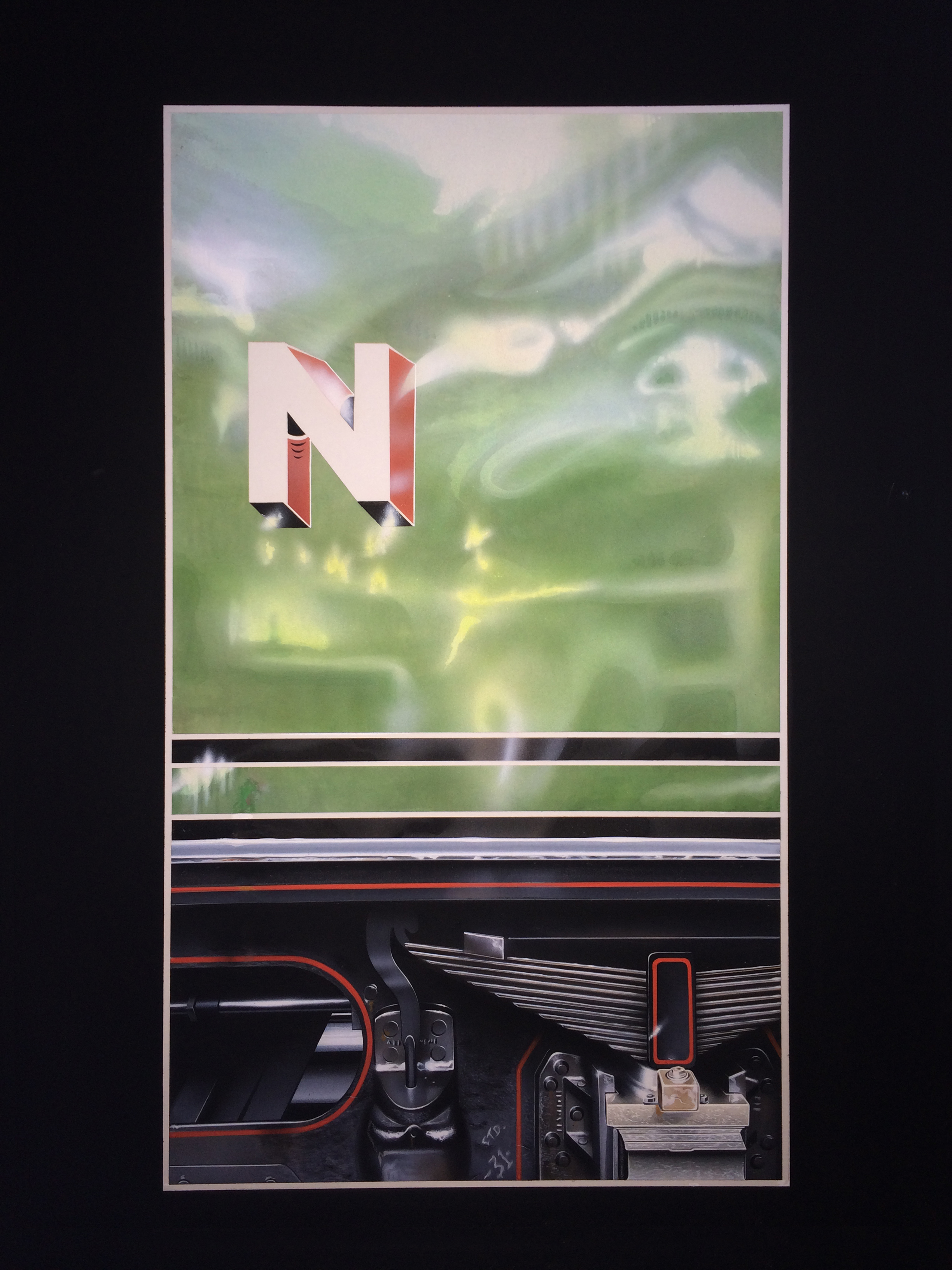 test Martin Alton LNER Green Arrow tender original painting for Athena