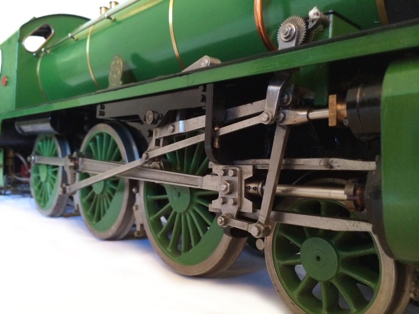 test Southern King Arthur live steam miniature locomotive for sale 04