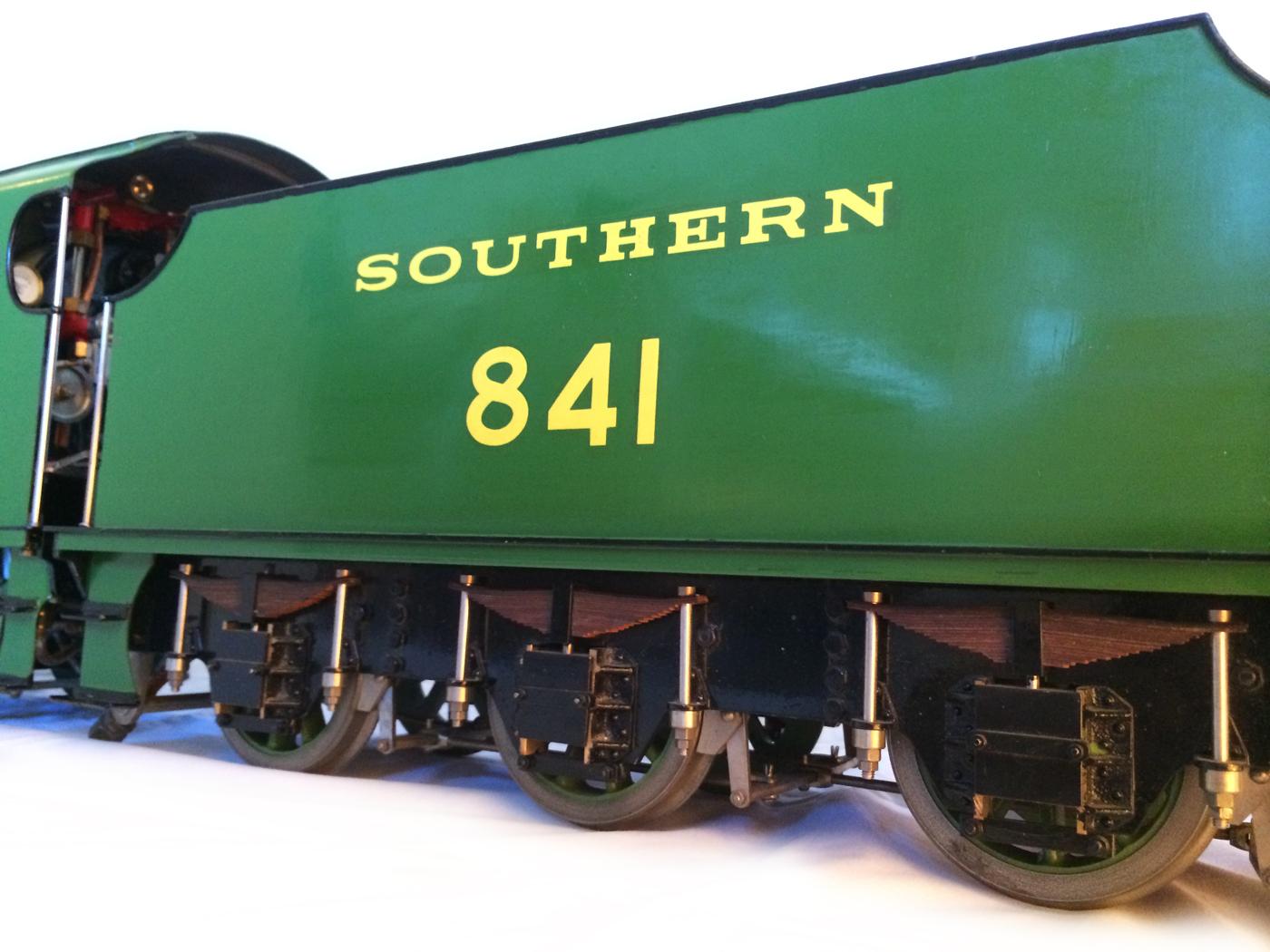 test Southern King Arthur live steam miniature locomotive for sale 08