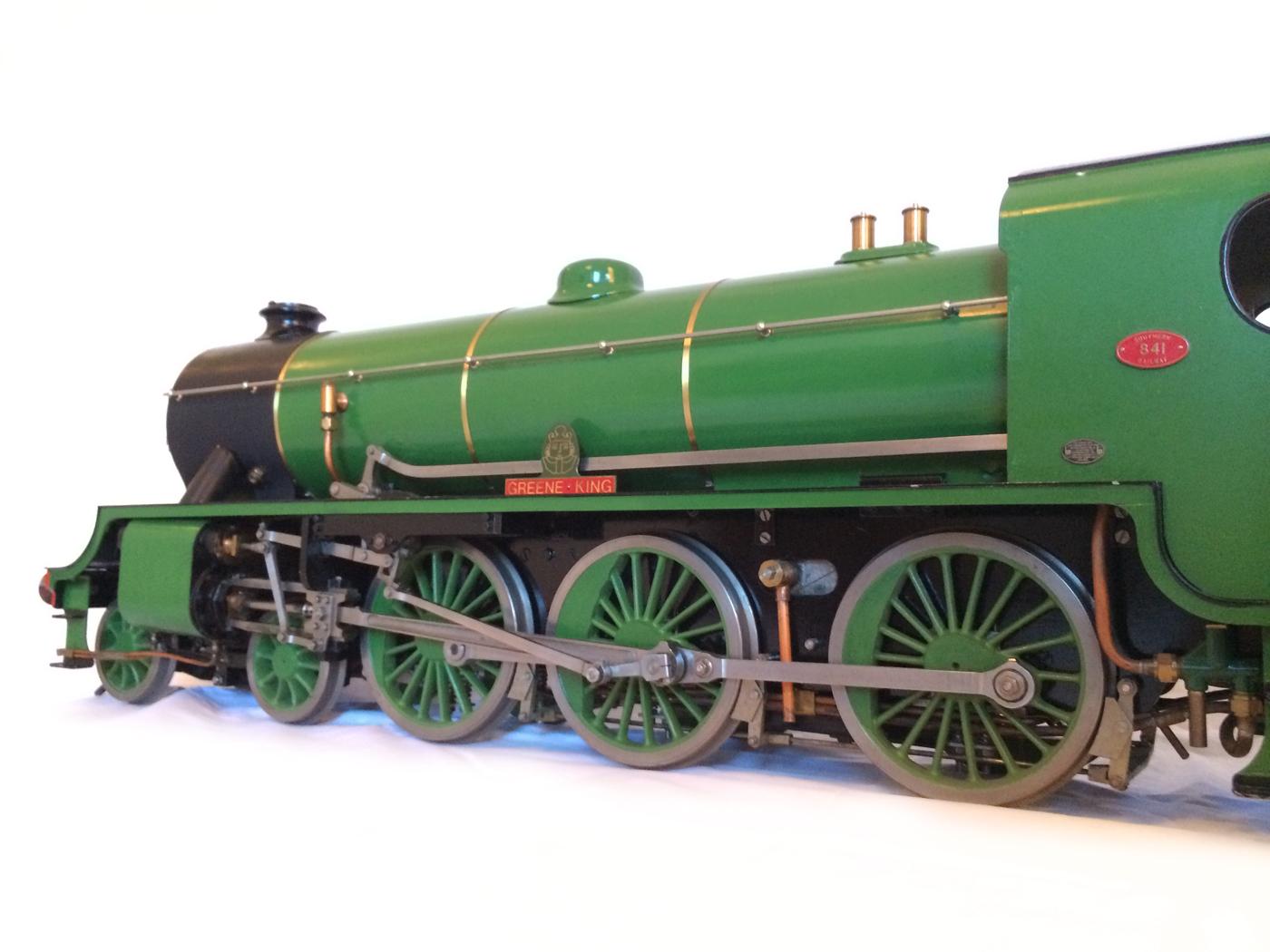 test Southern King Arthur live steam miniature locomotive for sale 13