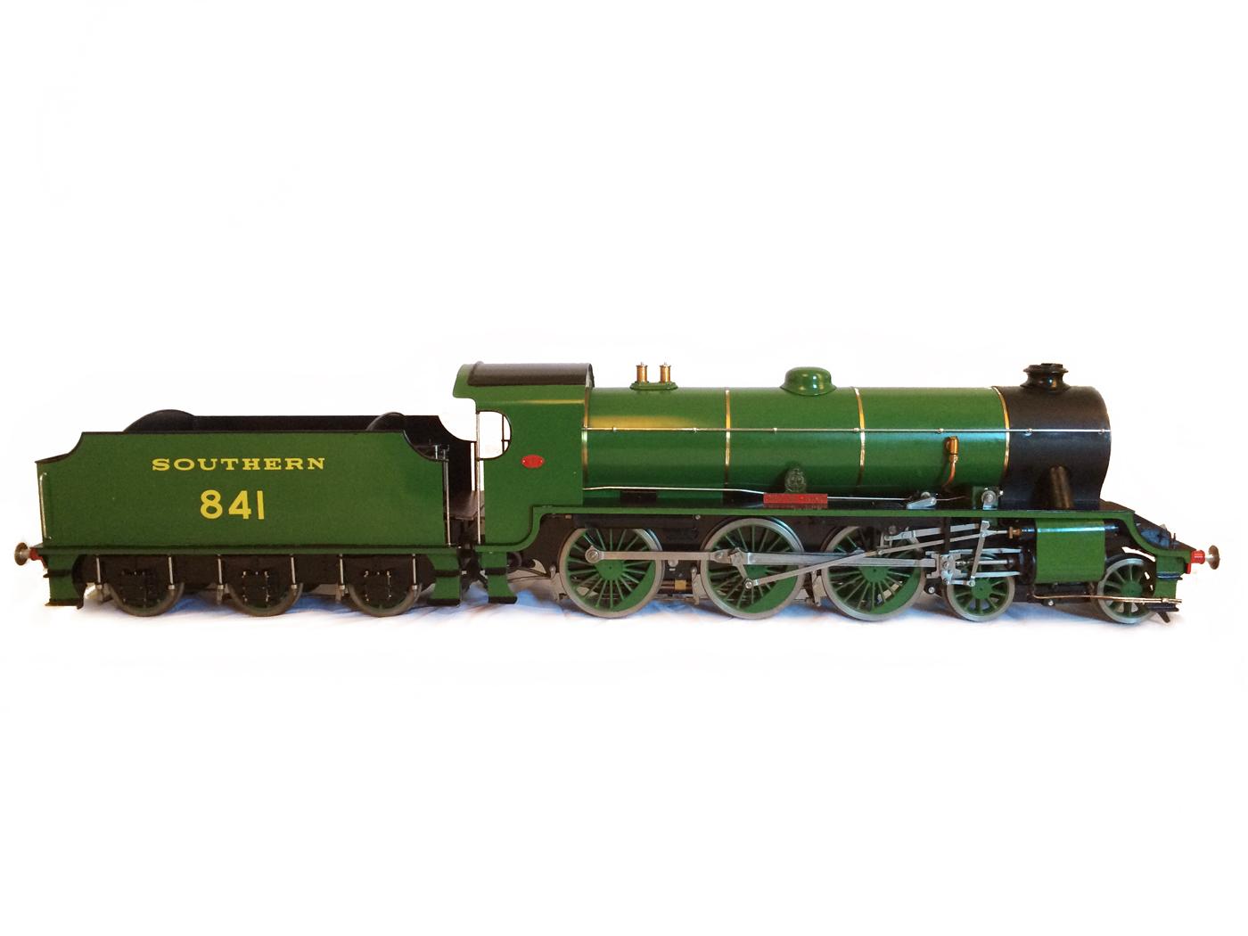 test Southern King Arthur live steam miniature locomotive for sale 17