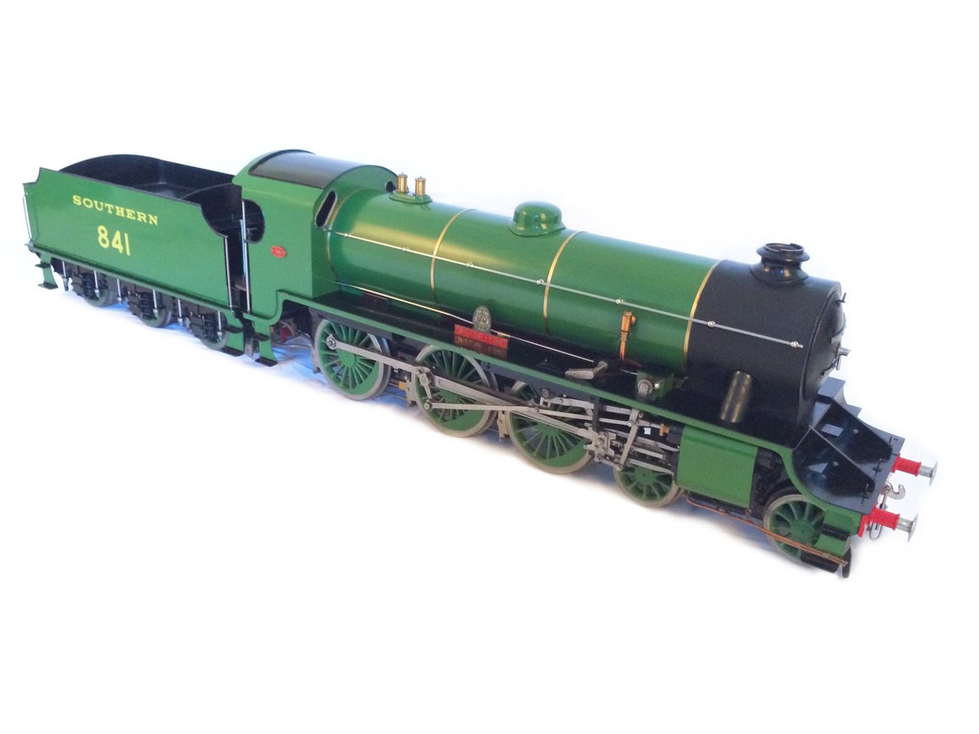 test Southern King Arthur live steam miniature locomotive for sale 18