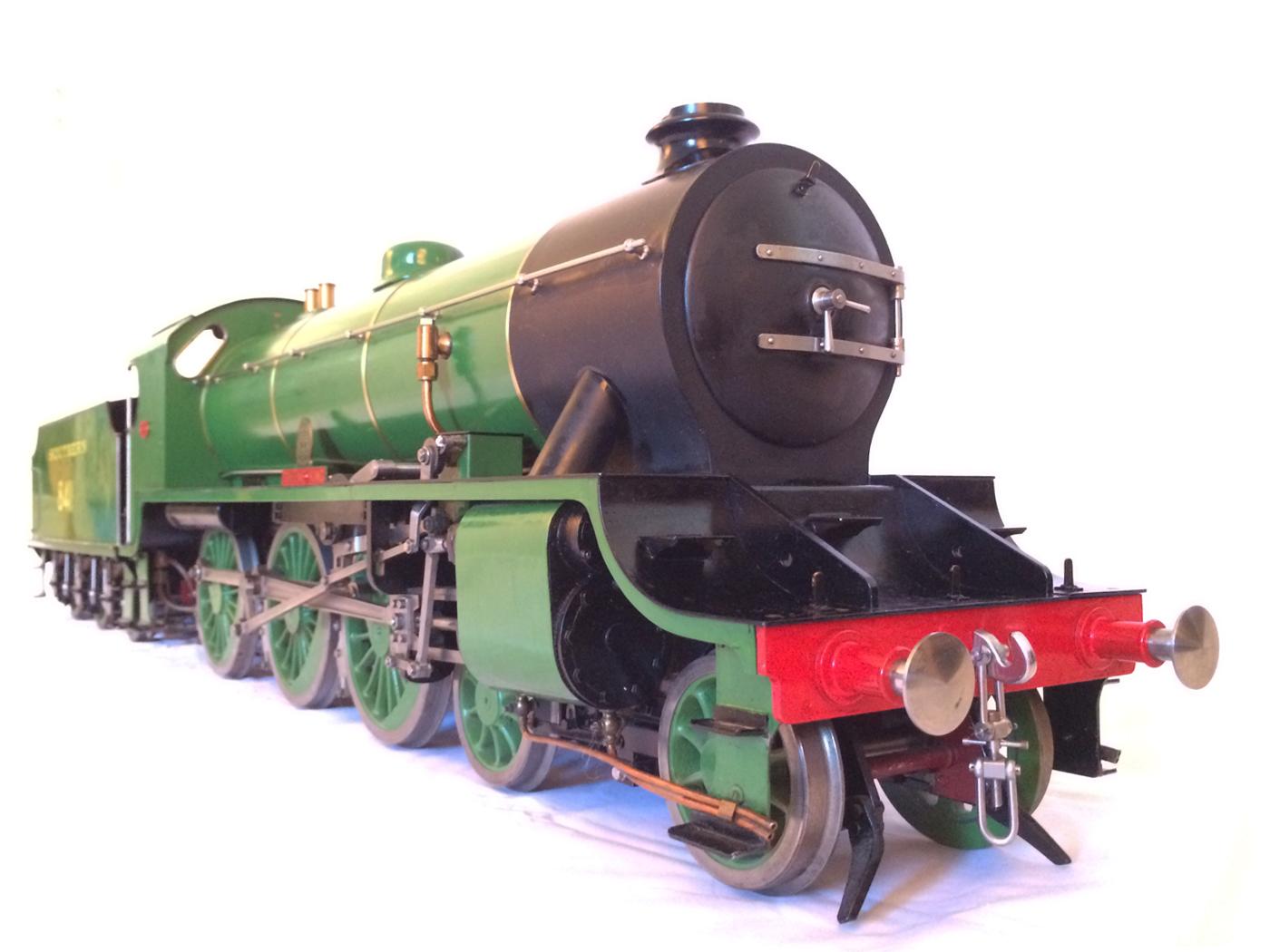 test Southern King Arthur live steam miniature locomotive for sale 26