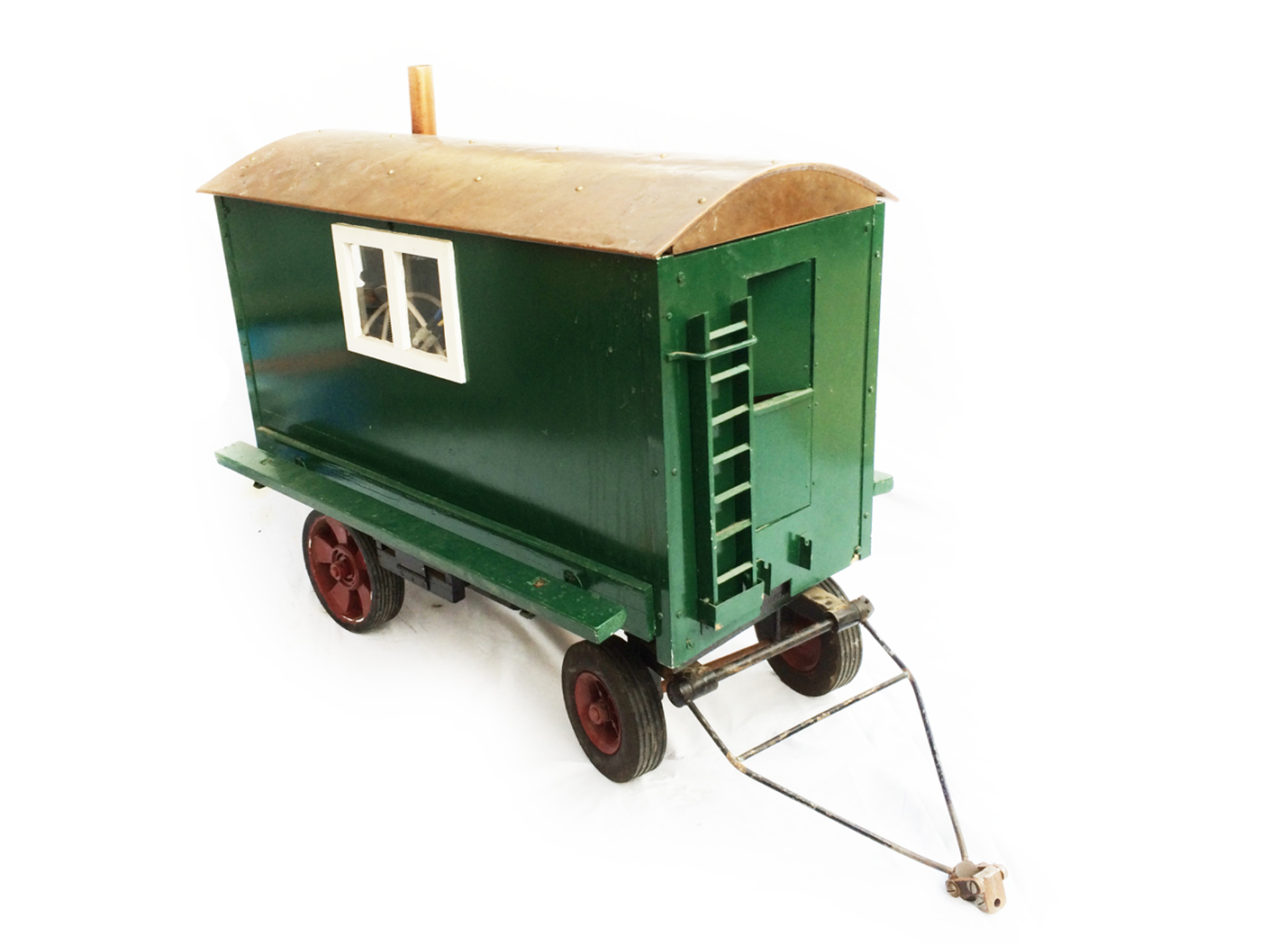 test 3 inch Scale traction engine living van live steam for sale 04