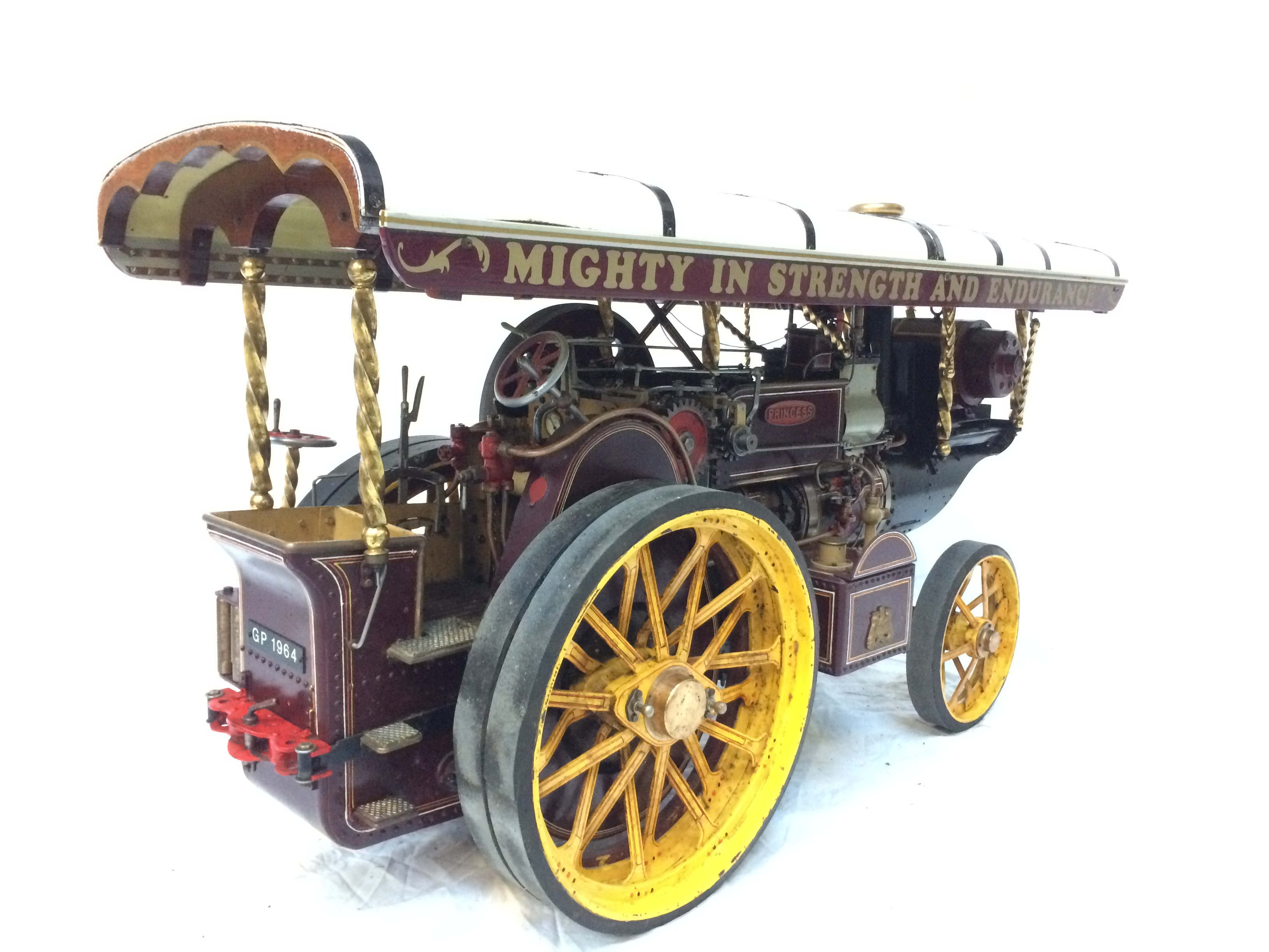 test 2 scale Fowler Showmans Engine Princess live steam traction engine for sale 13