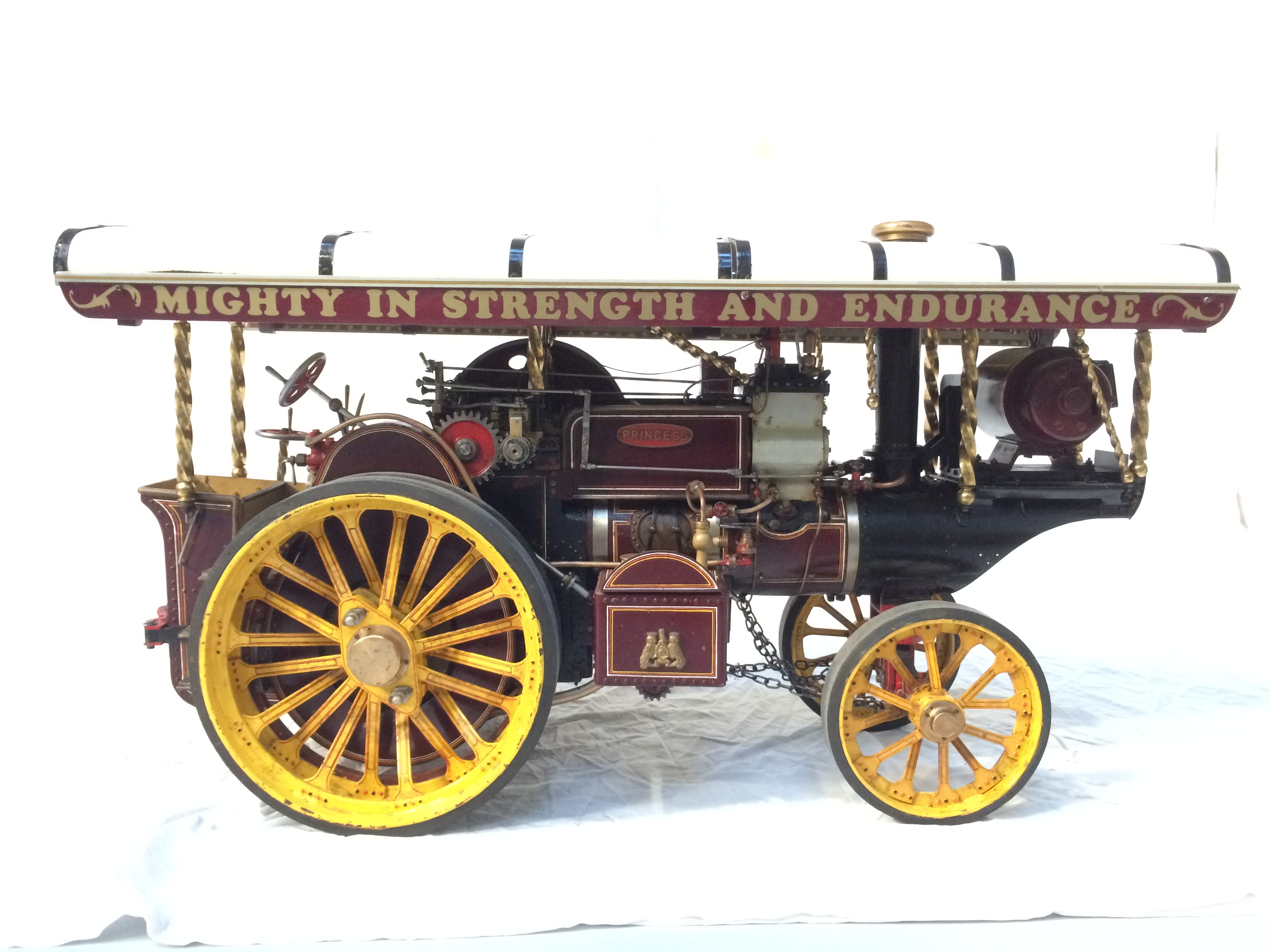 test 2 scale Fowler Showmans Engine Princess live steam traction engine for sale 22