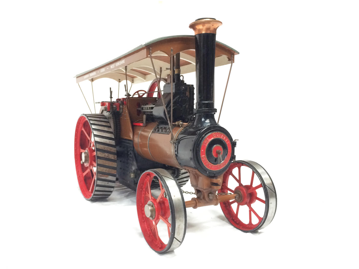 test 1 scale Burrell SCC Single Crank Compound Traction Engine live steam for sale 01