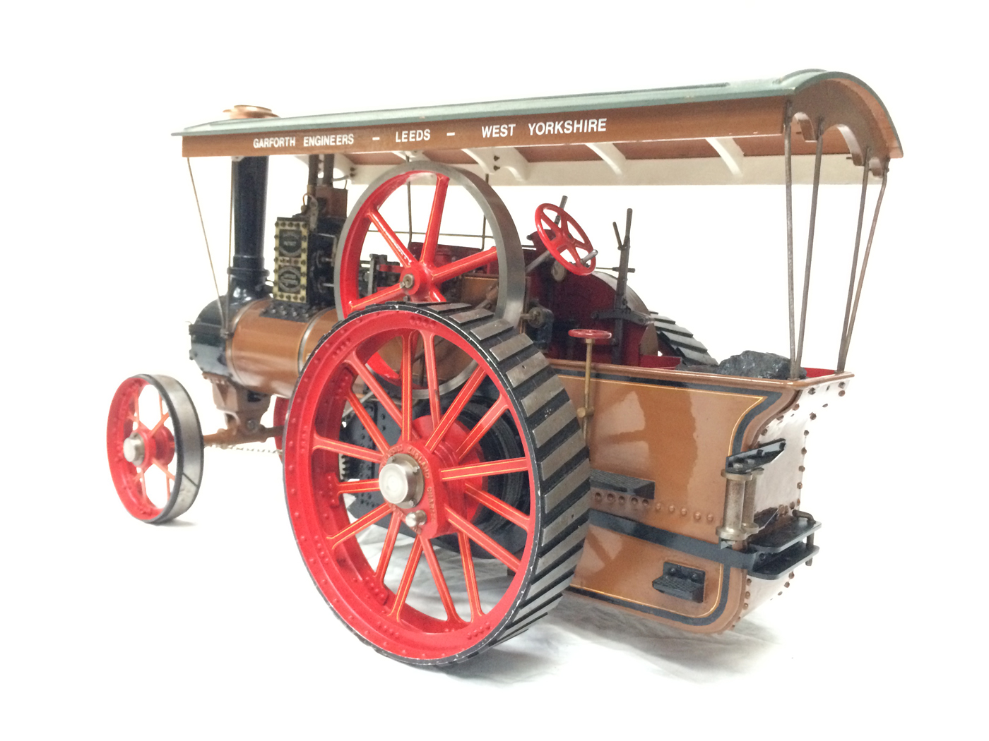 test 1 scale Burrell SCC Single Crank Compound Traction Engine live steam for sale 15