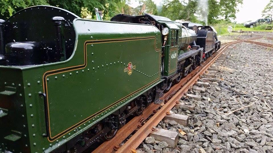 test 3 gauge LMS Jubilee live steam locomotive for sale 0102
