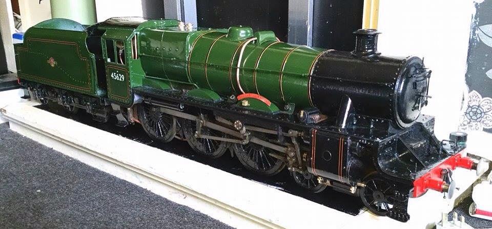 test 3 gauge LMS Jubilee live steam locomotive for sale 04