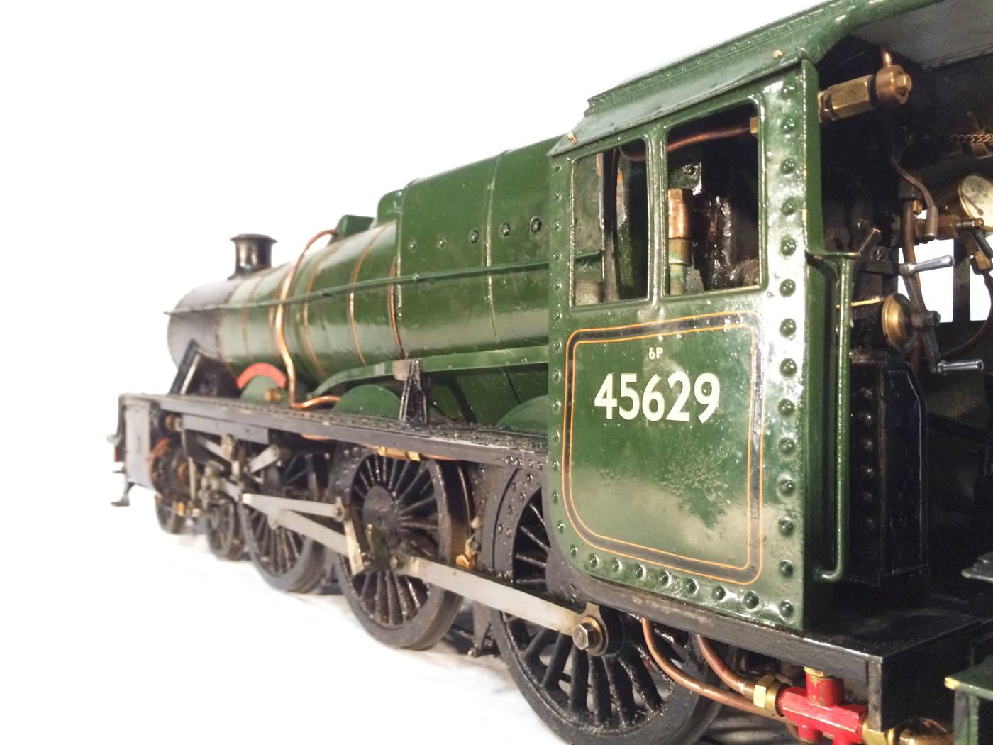 test 3 gauge LMS Stanier Jubilee live steam locomotive for sale 03