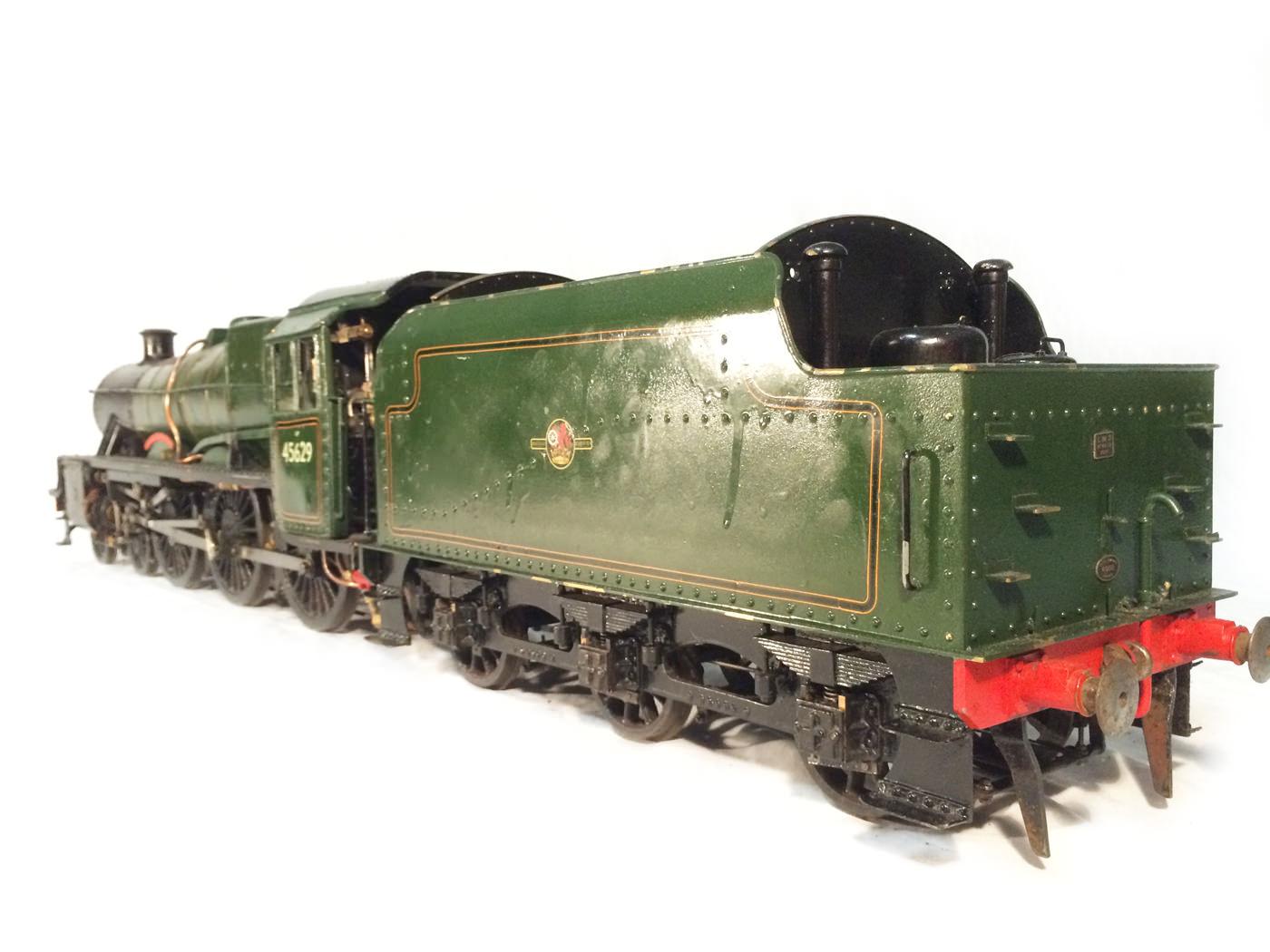 test 3 gauge LMS Stanier Jubilee live steam locomotive for sale 05