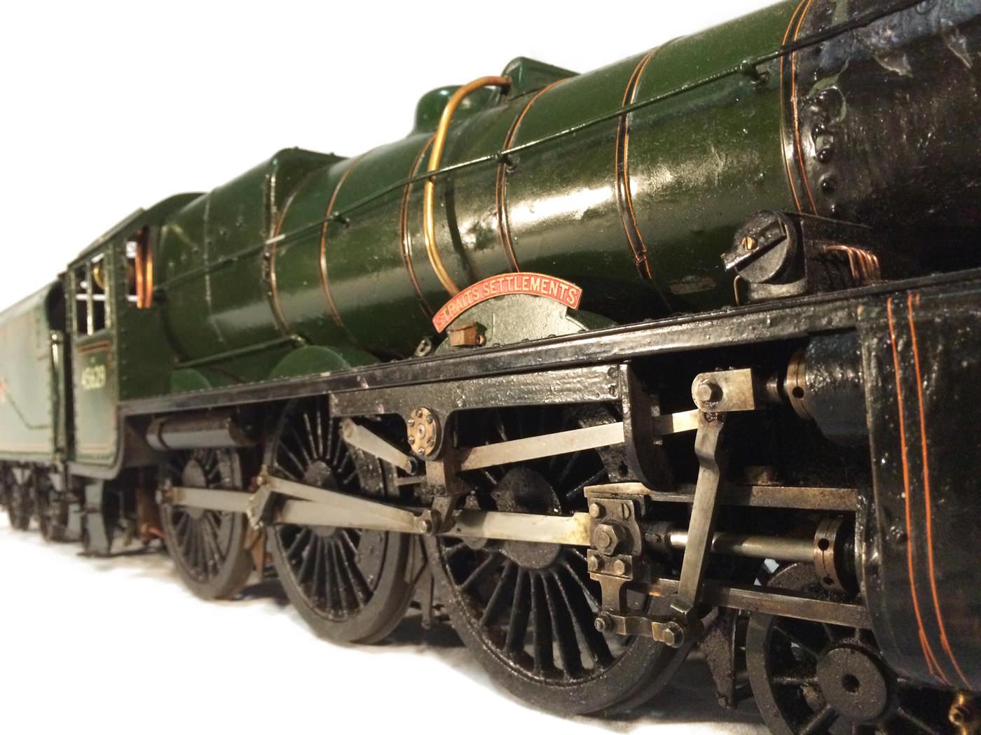 test 3 gauge LMS Stanier Jubilee live steam locomotive for sale 18