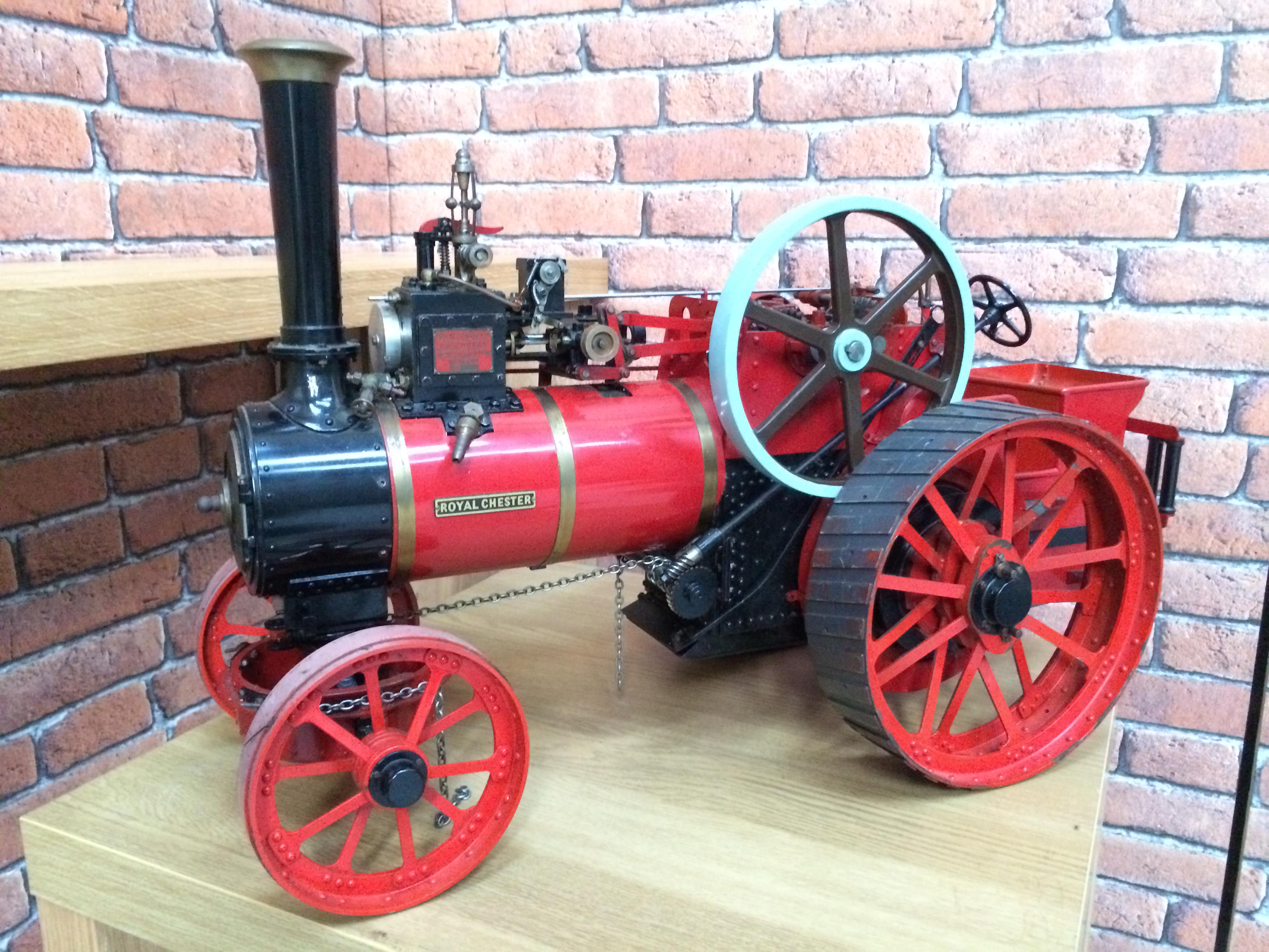 test 1 and a half inch scale royal chester alchin live steam traction engine for sale 01
