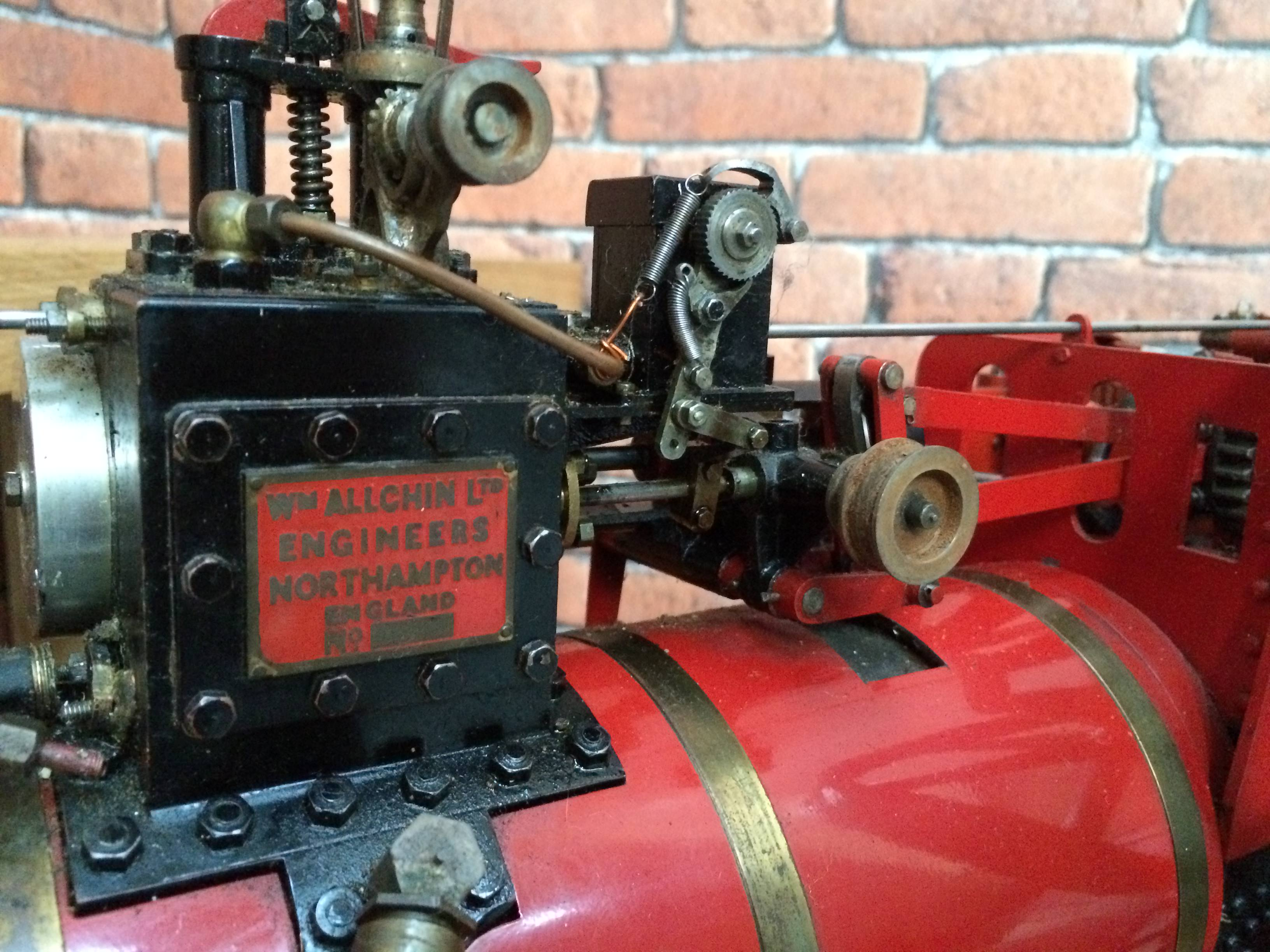 test 1 and a half inch scale royal chester alchin live steam traction engine for sale 02