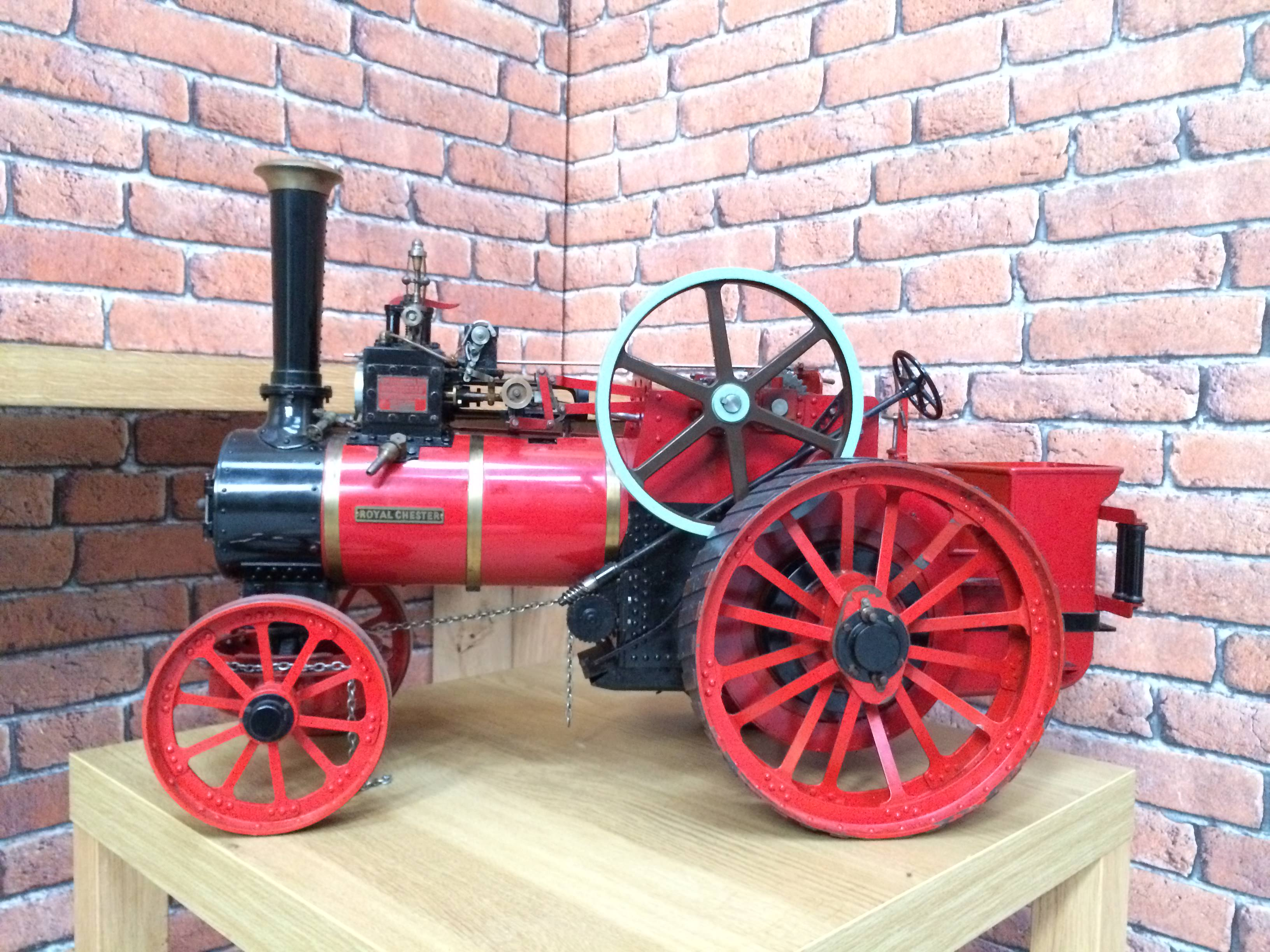 test 1 and a half inch scale royal chester alchin live steam traction engine for sale 05