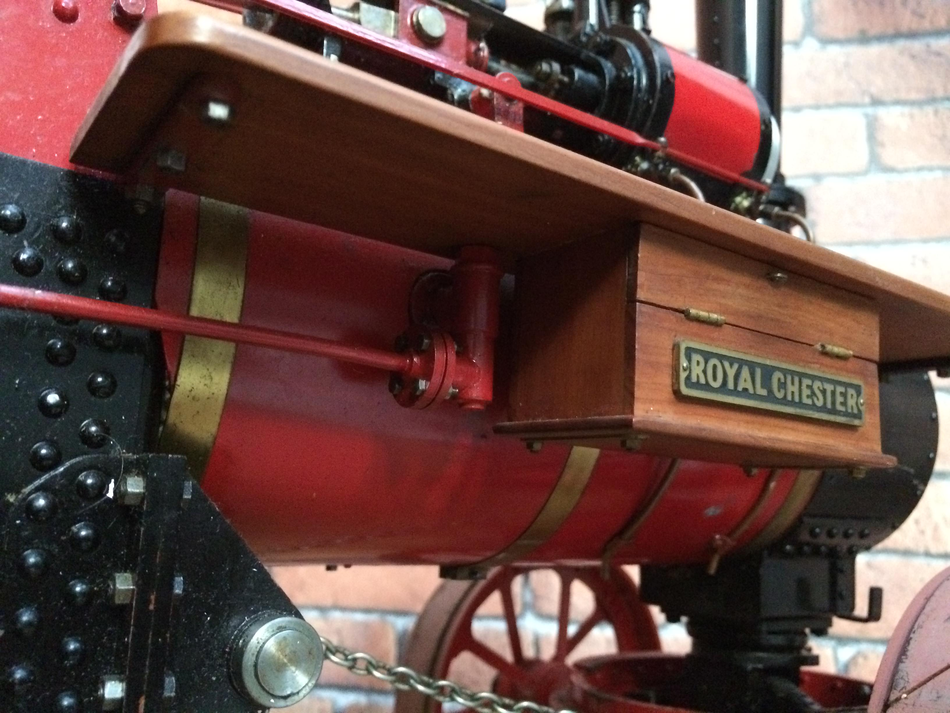 test 1 and a half inch scale royal chester alchin live steam traction engine for sale 15