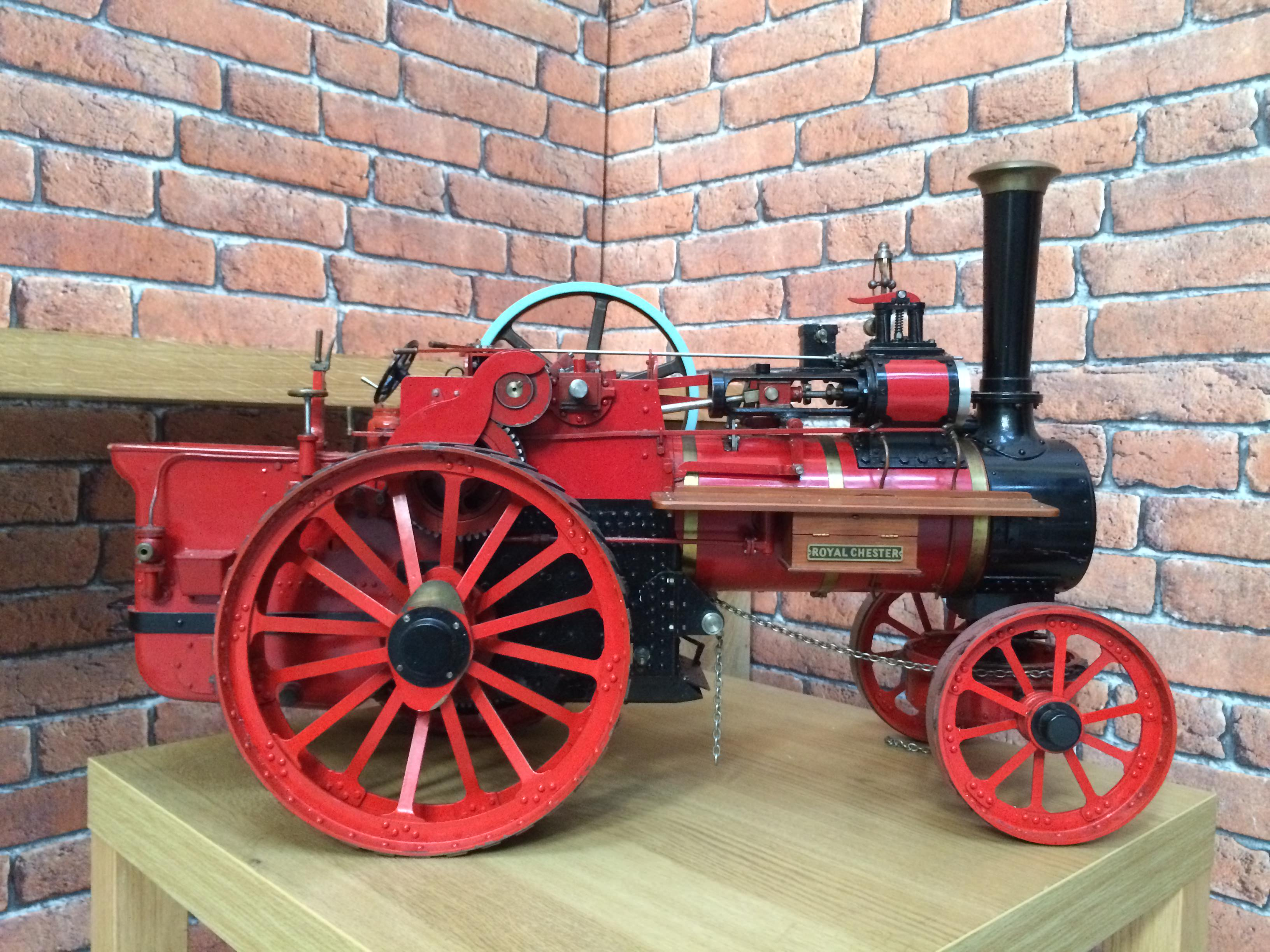 test 1 and a half inch scale royal chester alchin live steam traction engine for sale 18