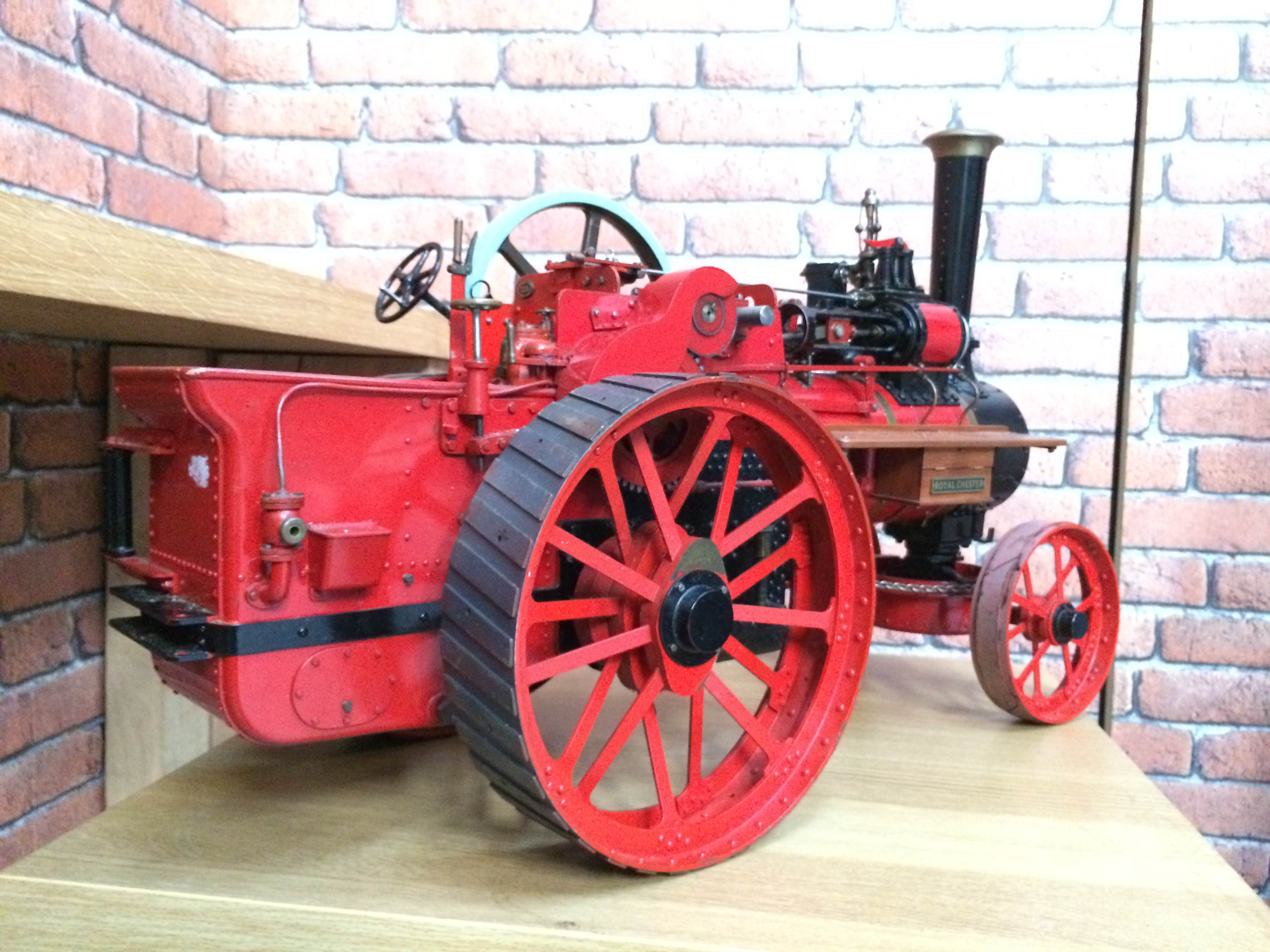test 1 and a half inch scale royal chester alchin live steam traction engine for sale 20
