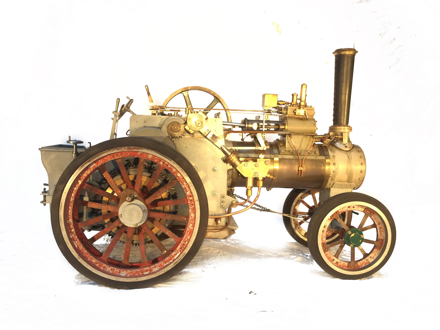 test 2 inch scale minnie traction engine live steam model for sale 04