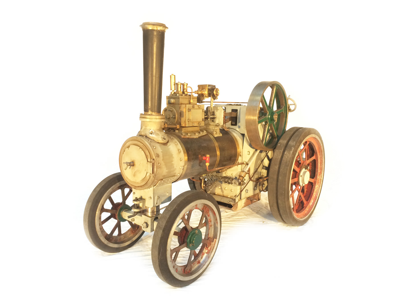test 2 inch scale minnie traction engine live steam model for sale 18
