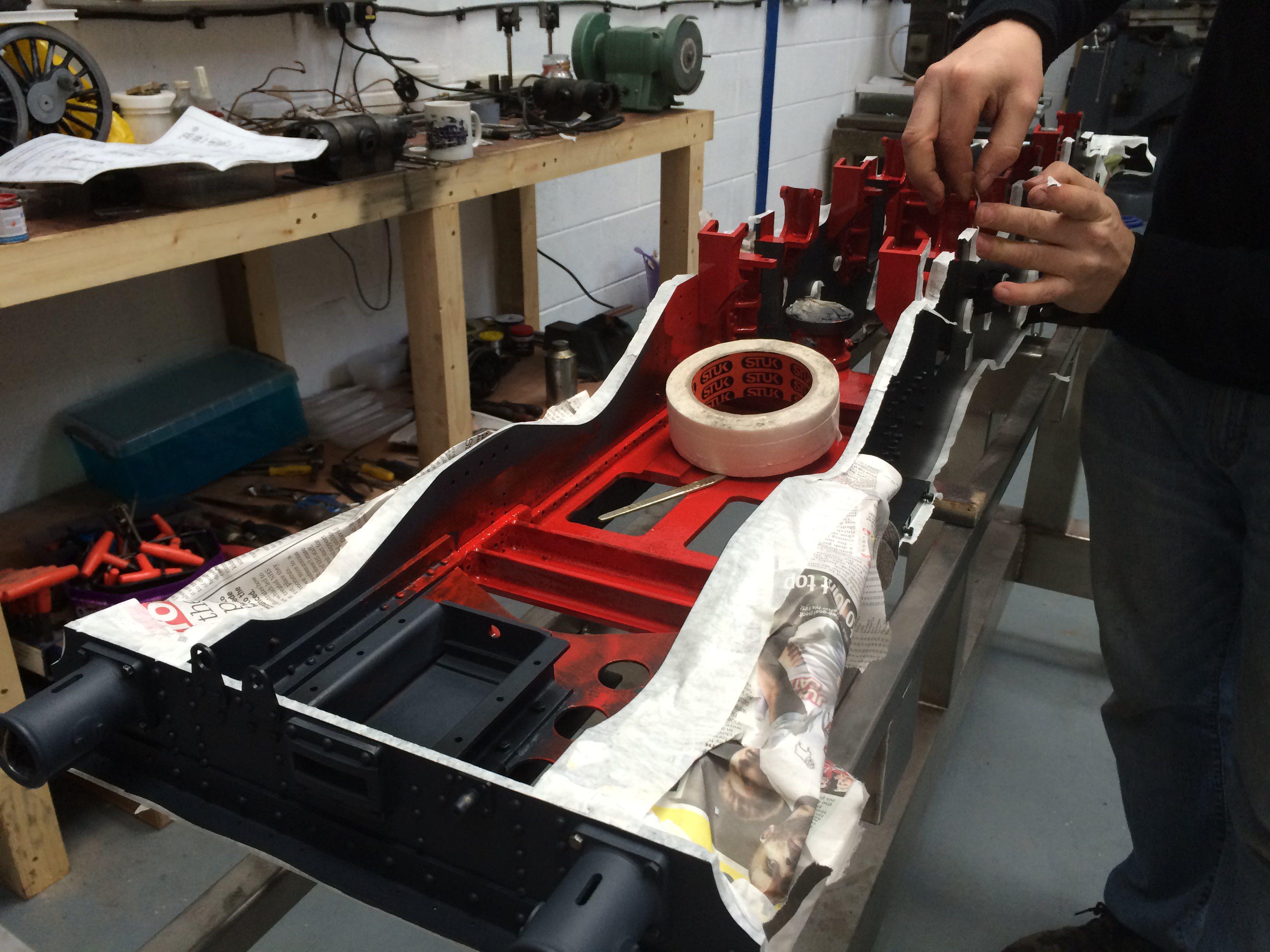 test 7 gauge standard class 4 tank masking the frames