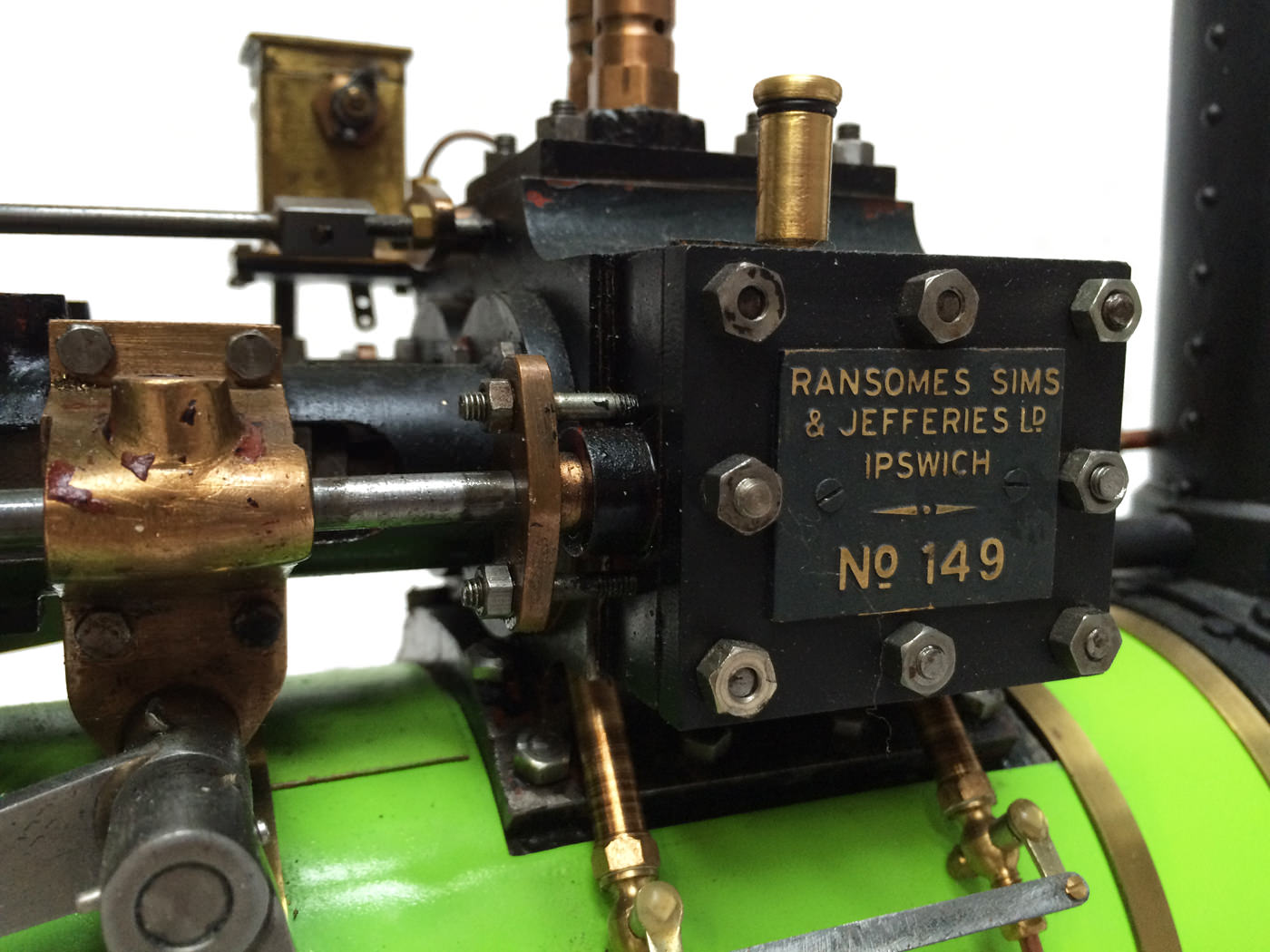 test 2 inch scale Ransomme Simms & Jeffreys Traction Engine Live Steam Model for sale 09