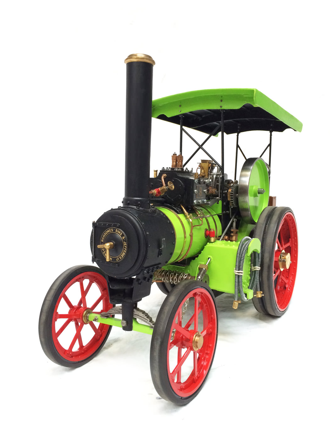 test 2 inch scale Ransomme Simms & Jeffreys Traction Engine Live Steam Model for sale 14