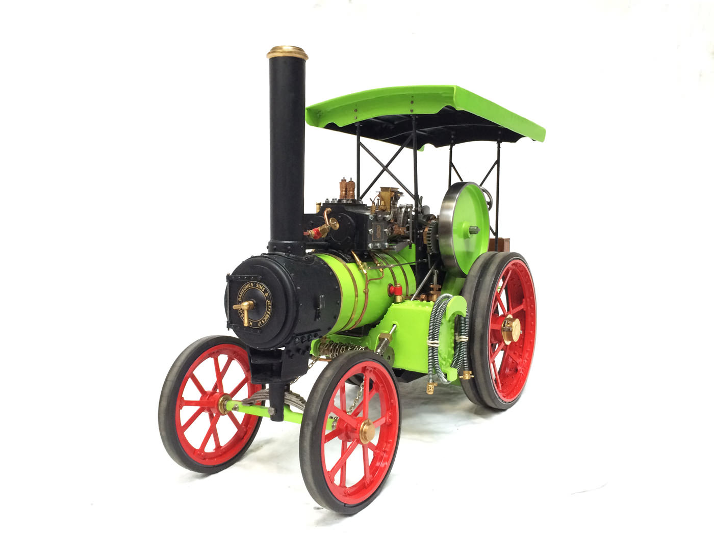 test 2 inch scale Ransomme Simms & Jeffreys Traction Engine Live Steam Model for sale 15