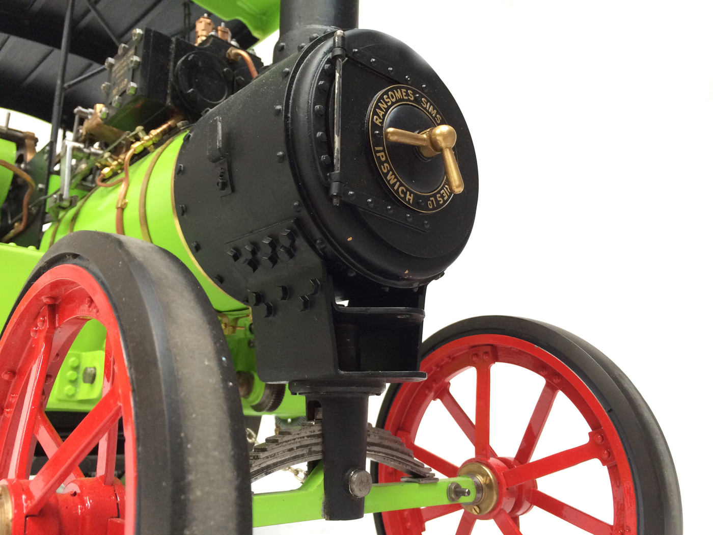 test 2 inch scale Ransomme Simms & Jeffreys Traction Engine Live Steam Model for sale 21