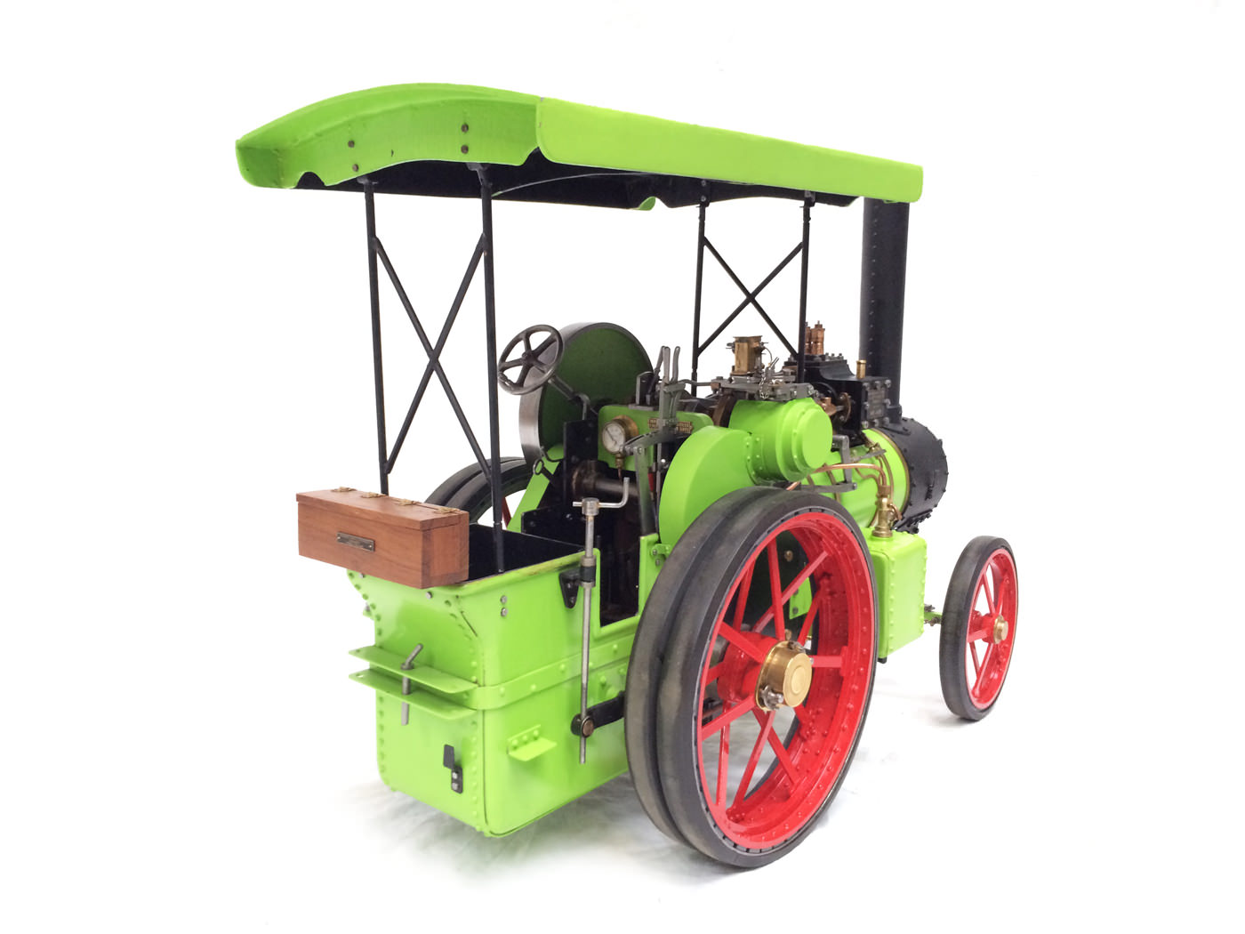 test 2 inch scale Ransomme Simms & Jeffreys Traction Engine Live Steam Model for sale 26
