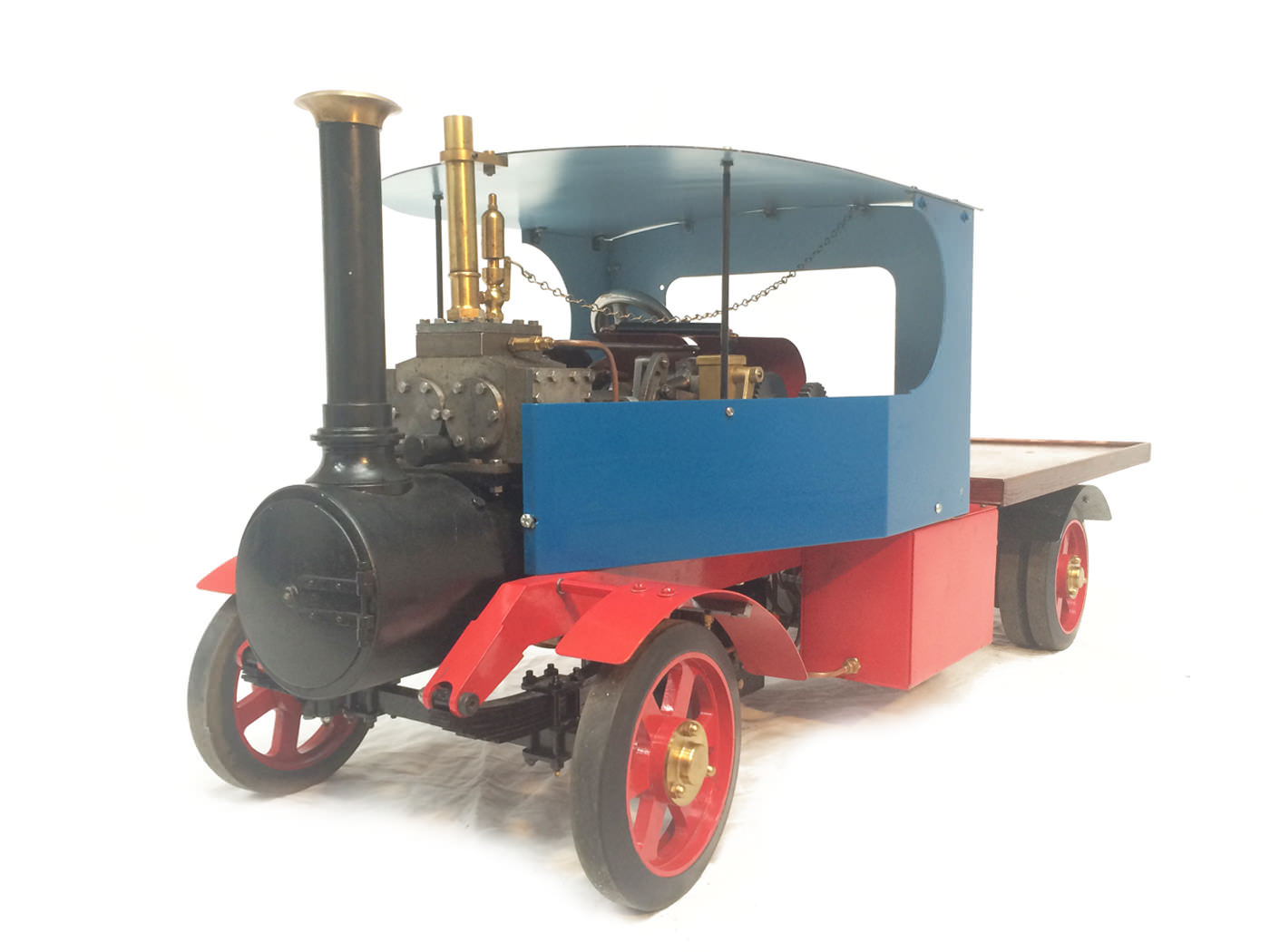 test 2 scale foden steam lorry live steam model for sale 21